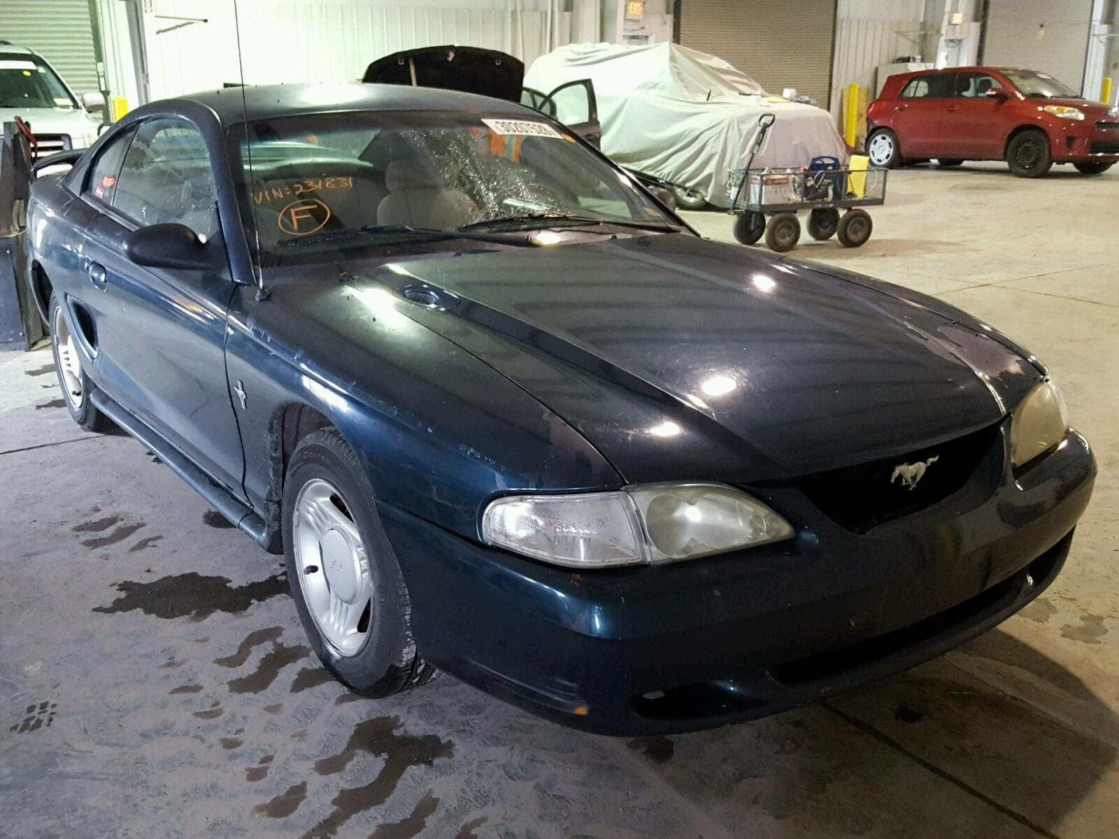 1FALP4040SF231831   1995 GREEN FORD MUSTANG on Sale in KS - KANSAS ...