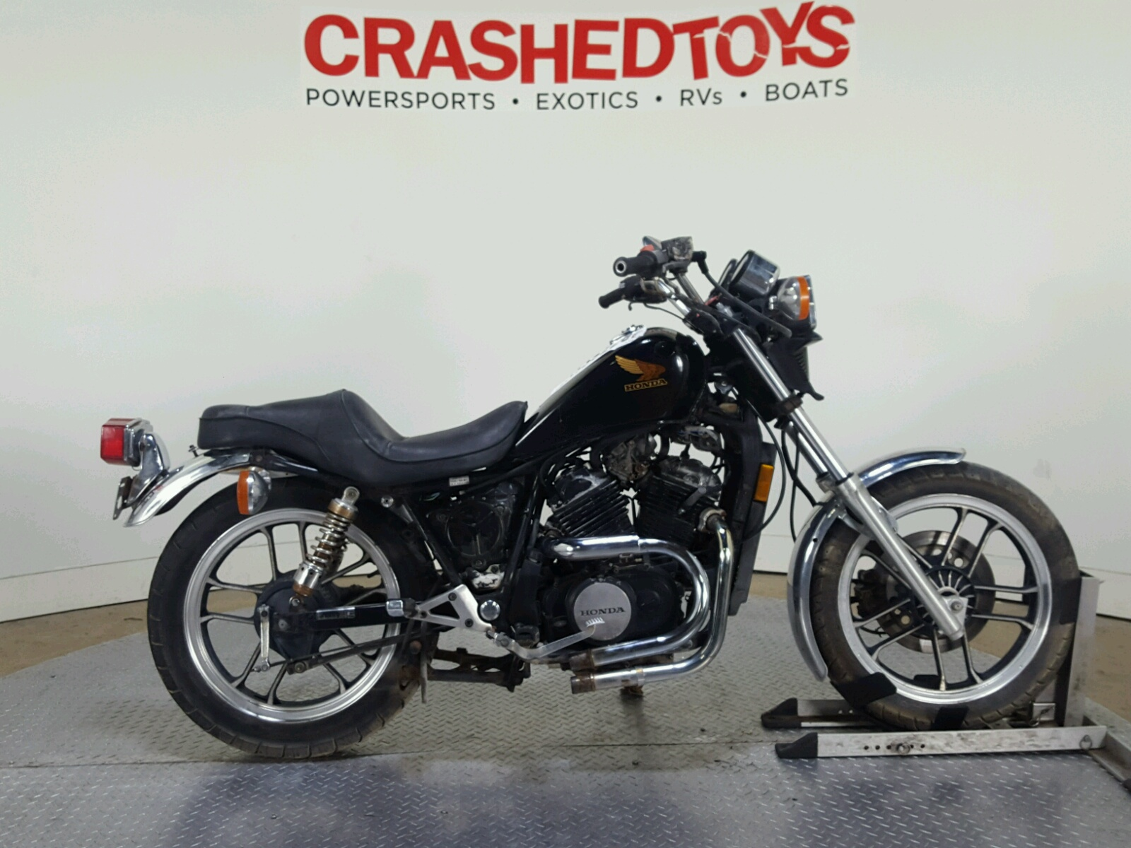 1983 Honda Vt500 Ft 2 In Tx Crashedtoys Dallas Jh2pc1003dm001225 Shadow Vt500c Parts Left View