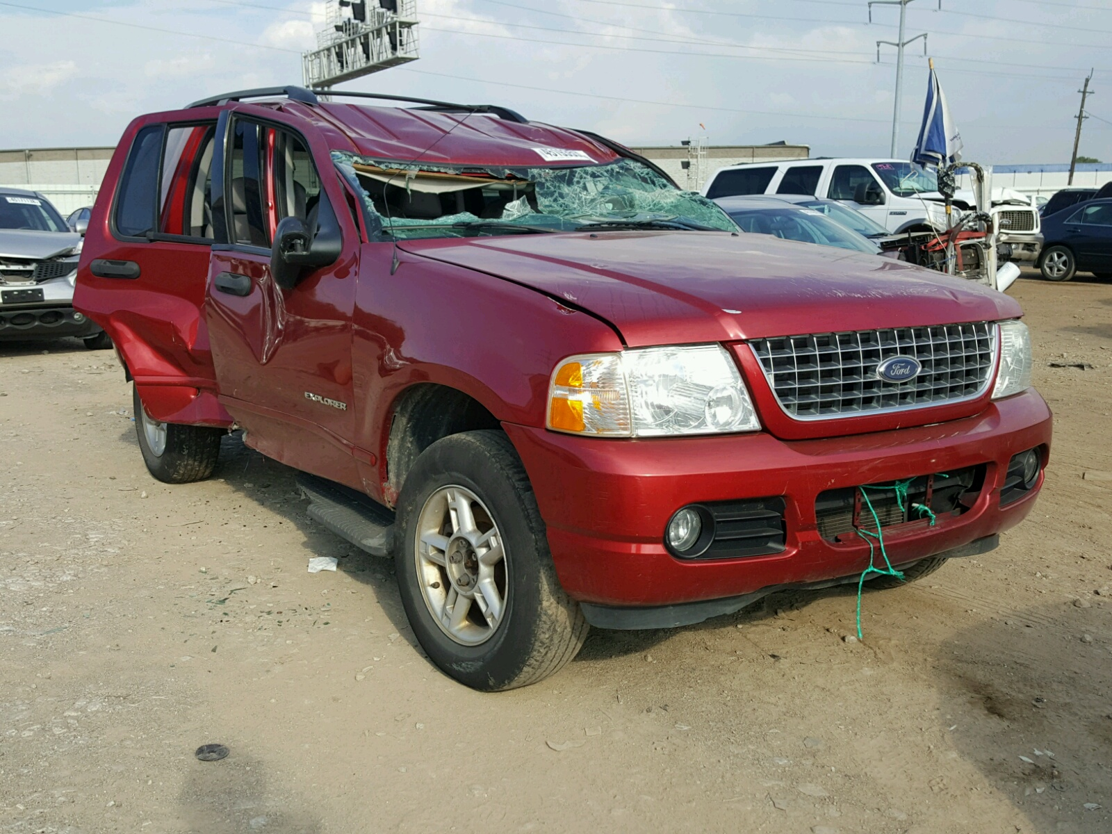 1fmzu73k04uc06284 2004 Red Ford Explorer X On Sale In Oh 2015 Escape Wiring Cdc35 40l Left View