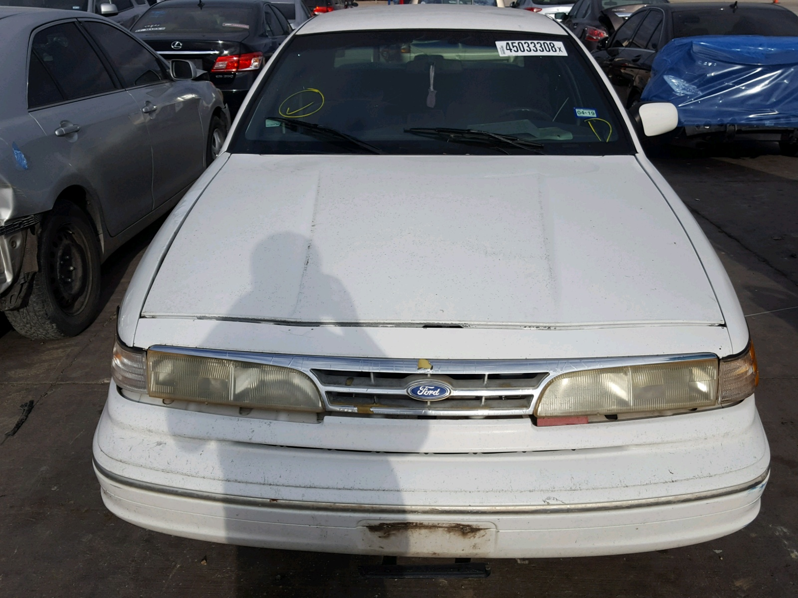 2falp73w1sx106100 1995 White Ford Crown Vict On Sale In Tx Victoria 46l Engine View