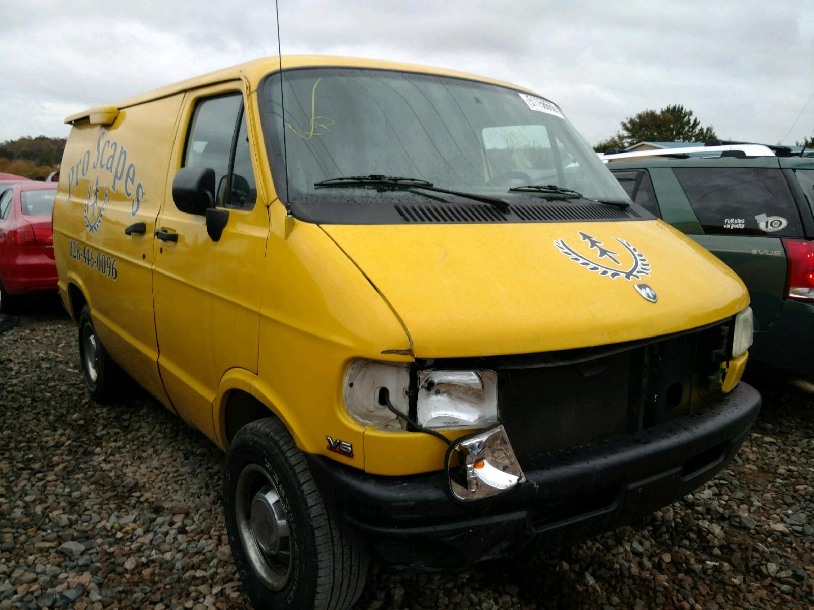 Salvage 1995 Dodge RAM VAN B2 for sale