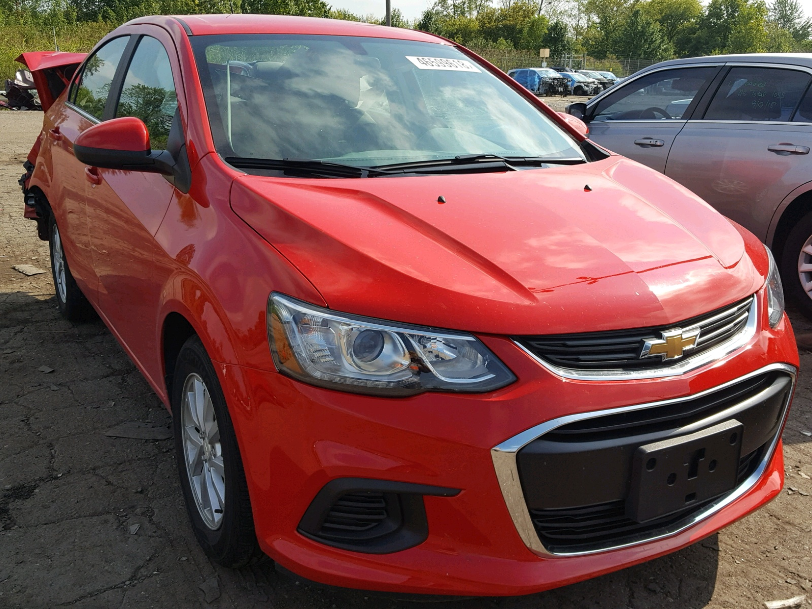 Salvage 2017 Chevrolet SONIC LT for sale