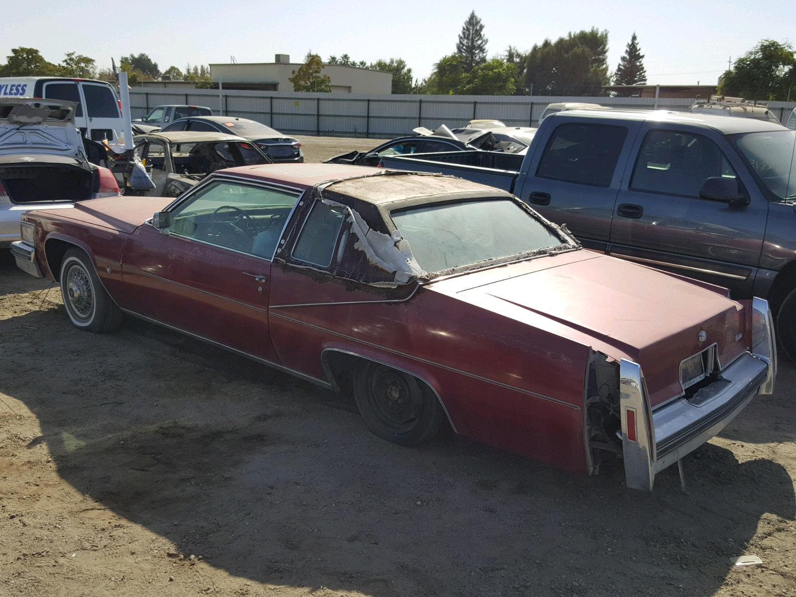 6d47s8q294769 1978 Red Cadillac Deville On Sale In Ca Sedan 4 Door Angle View