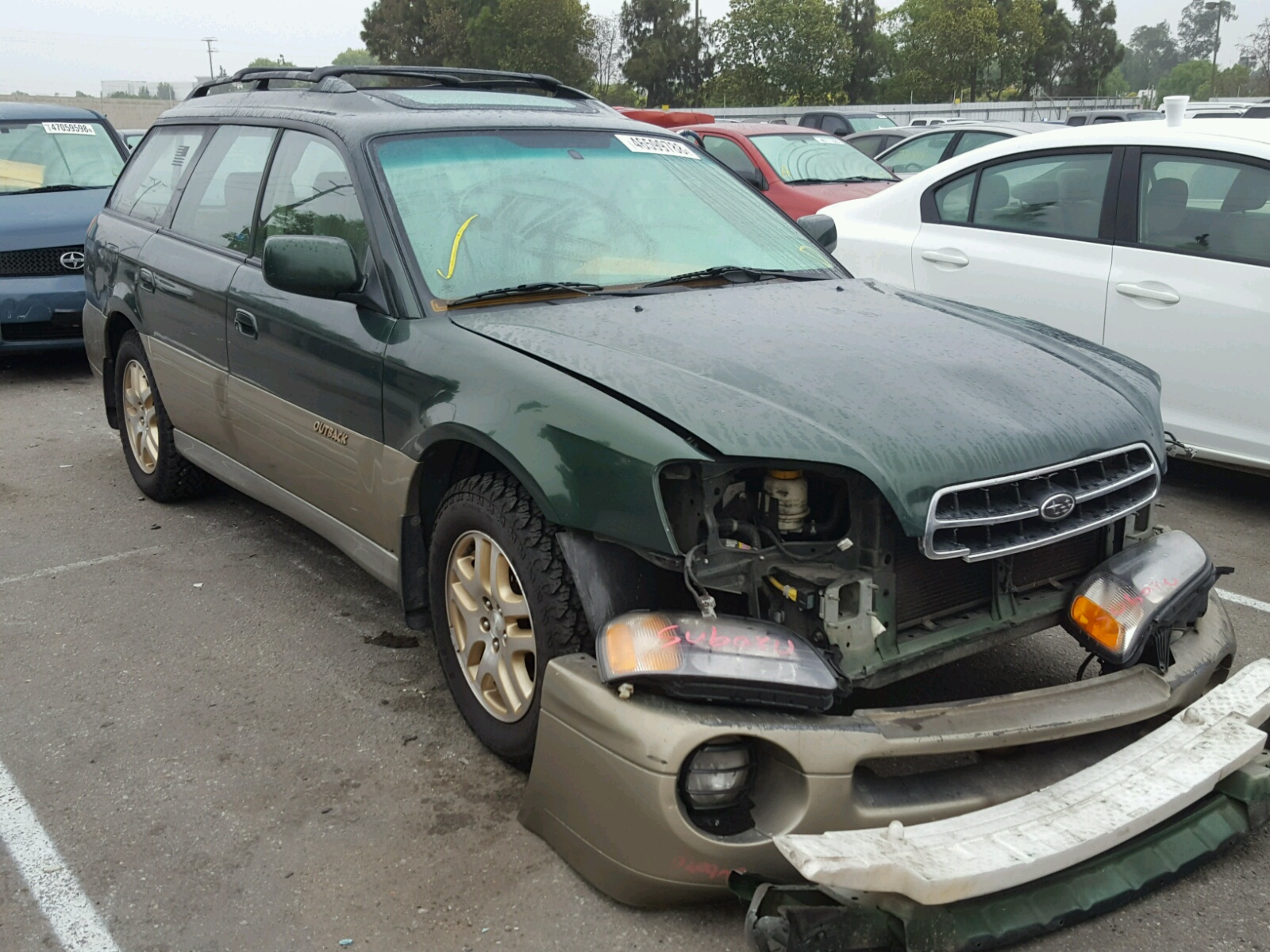 Salvage 2000 Subaru LEGACY OUTBACK for sale