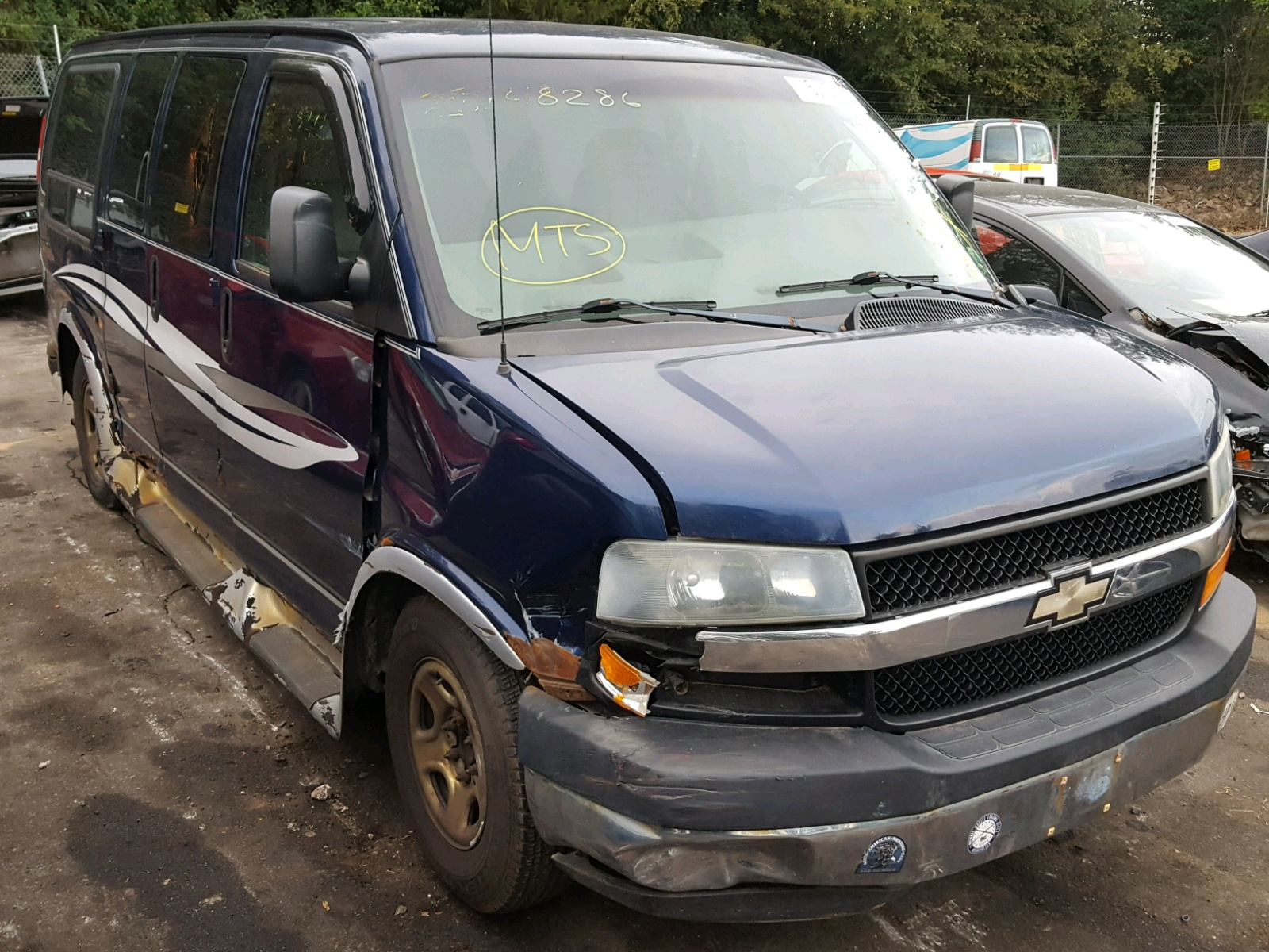 Salvage 2003 Chevrolet EXPRESS G1 for sale