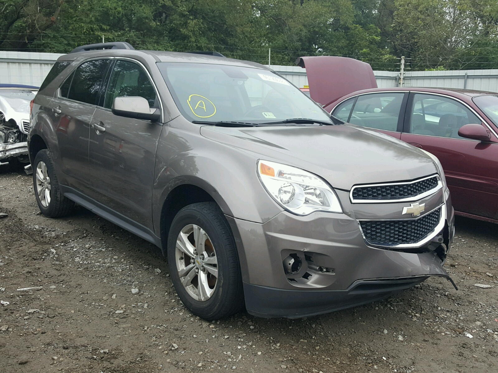 Salvage 2012 Chevrolet EQUINOX LT for sale