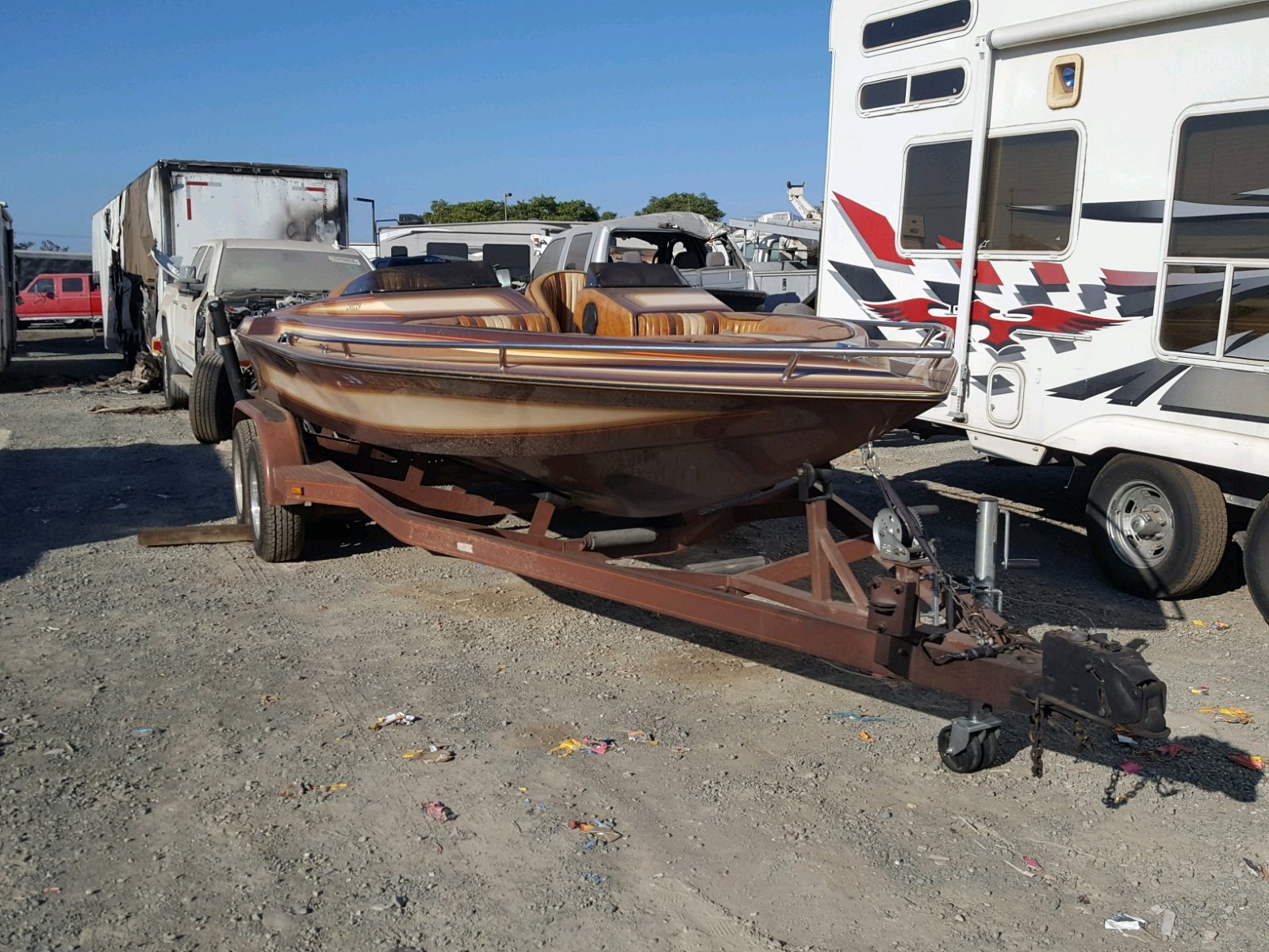 Salvage 1984 Elit MARINE TRAILER for sale