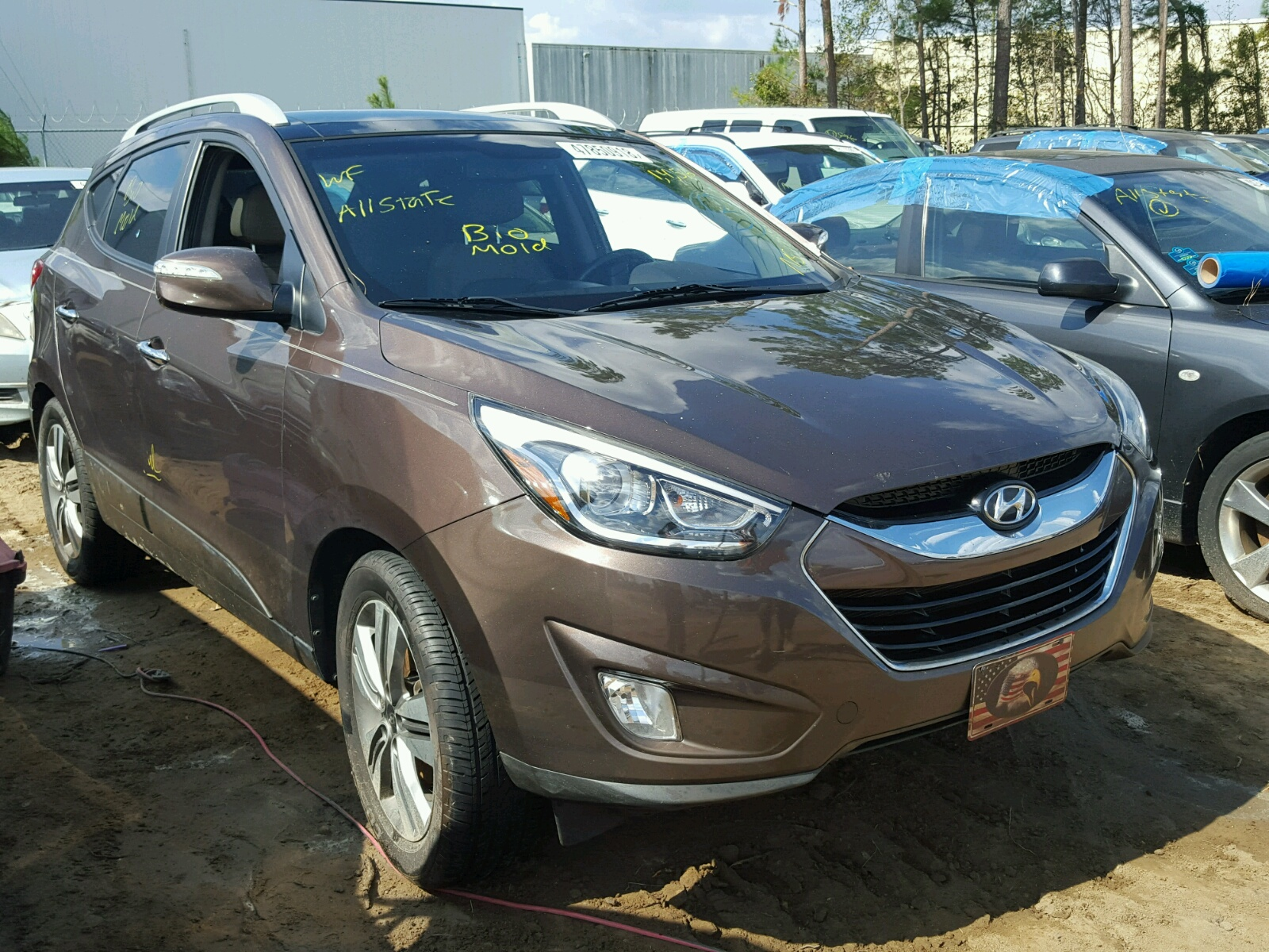 Salvage 2014 Hyundai TUCSON GLS for sale