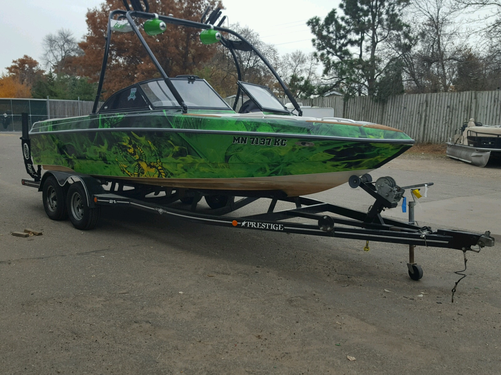 Salvage 2002 Tiger BOAT for sale