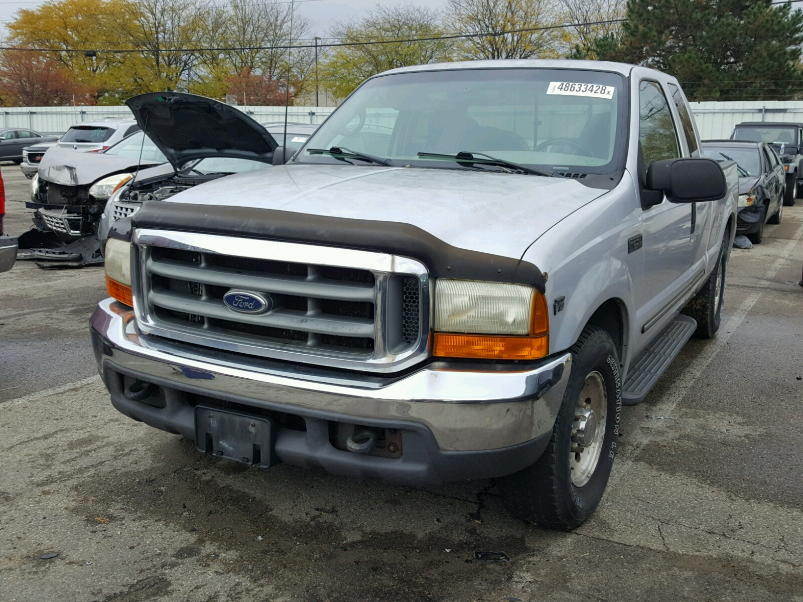 Auto Auction Ended On Vin 1ftnx20s1yeb23237 2000 Ford F250 Super In Duty 68l Right View