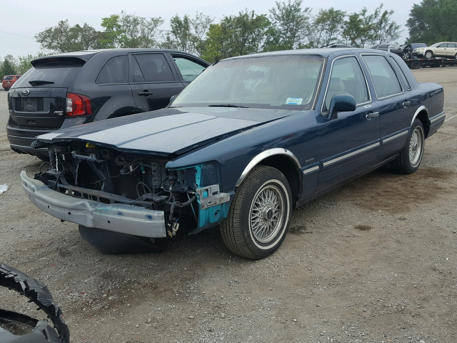 1lnlm81w9vy654759 1997 Green Lincoln Town Car E On Sale In Md