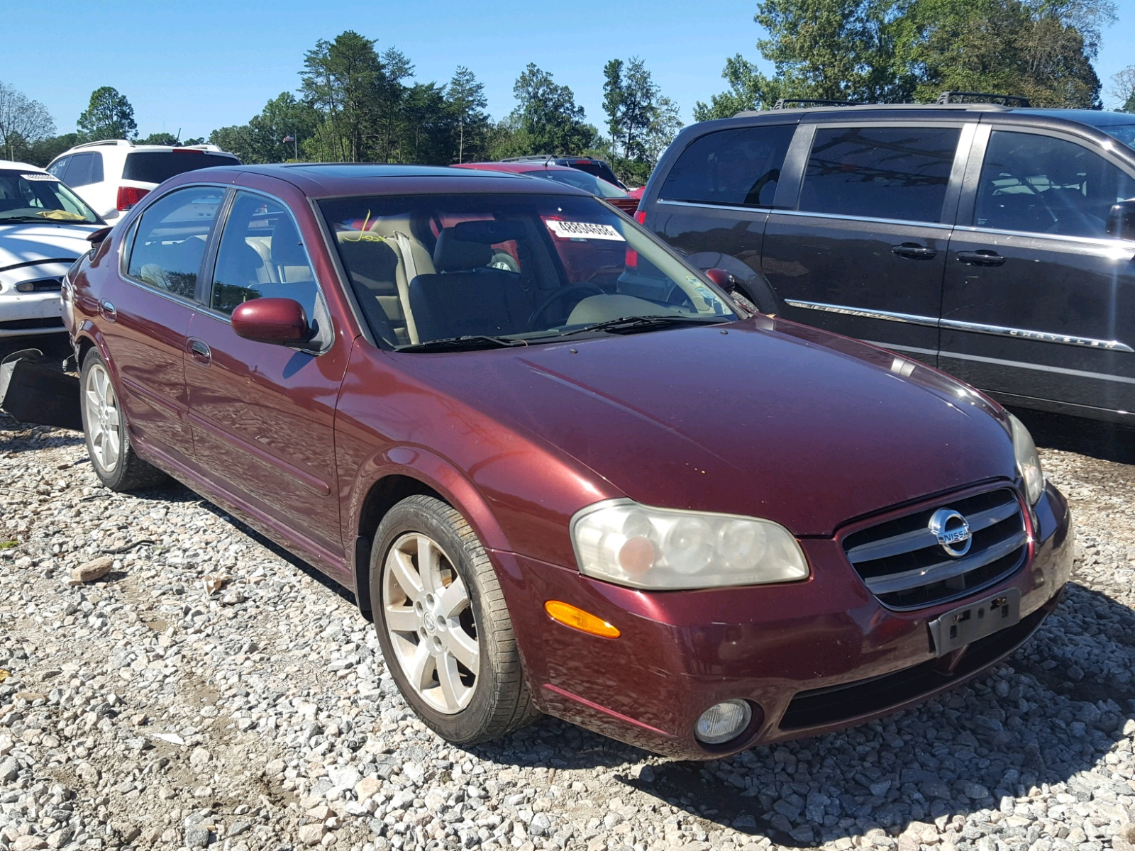 Salvage 2002 Nissan MAXIMA GLE for sale