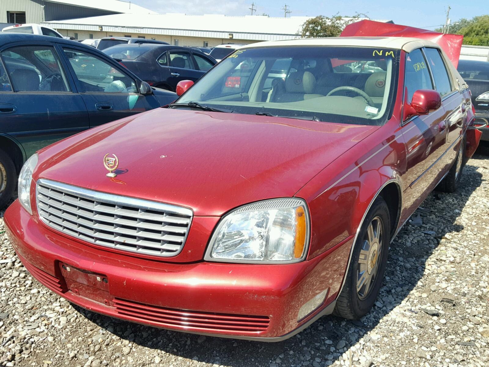1g6kd54y35u213053 2005 Red Cadillac Deville On Sale In Wi
