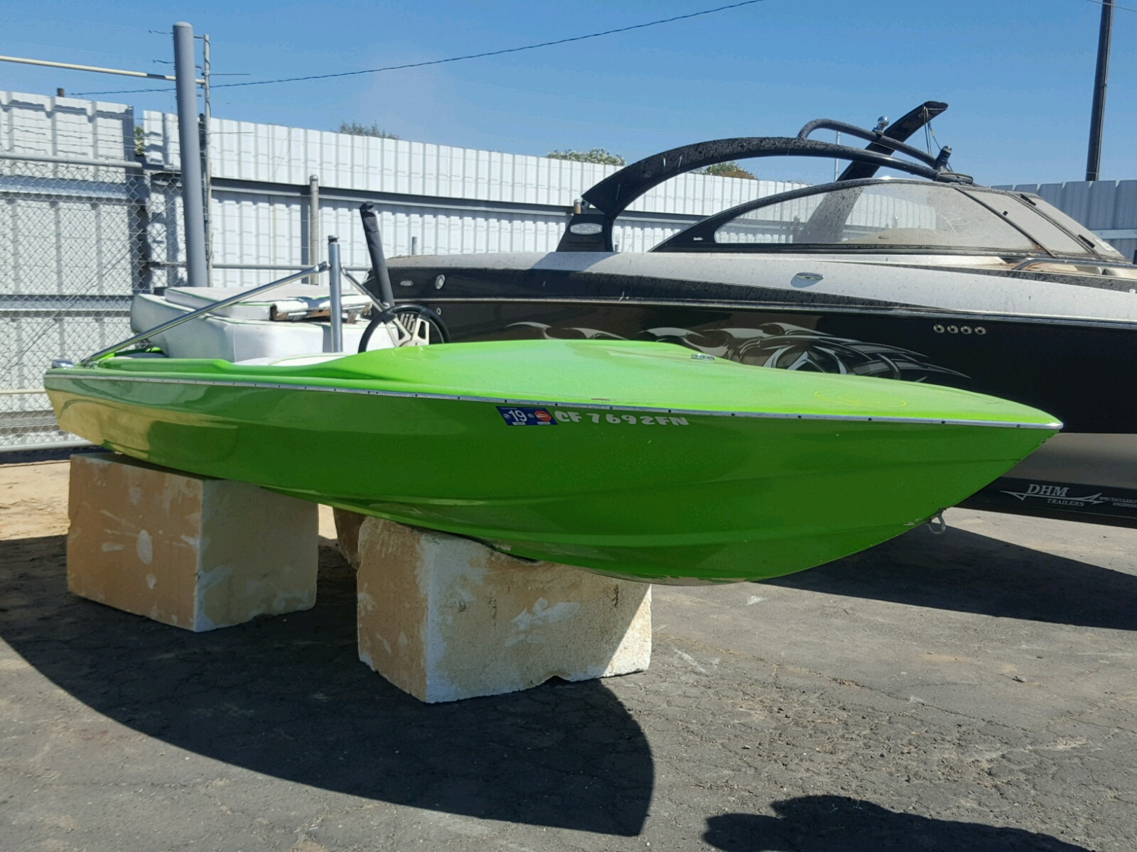 Salvage 1975 Modf BOAT for sale