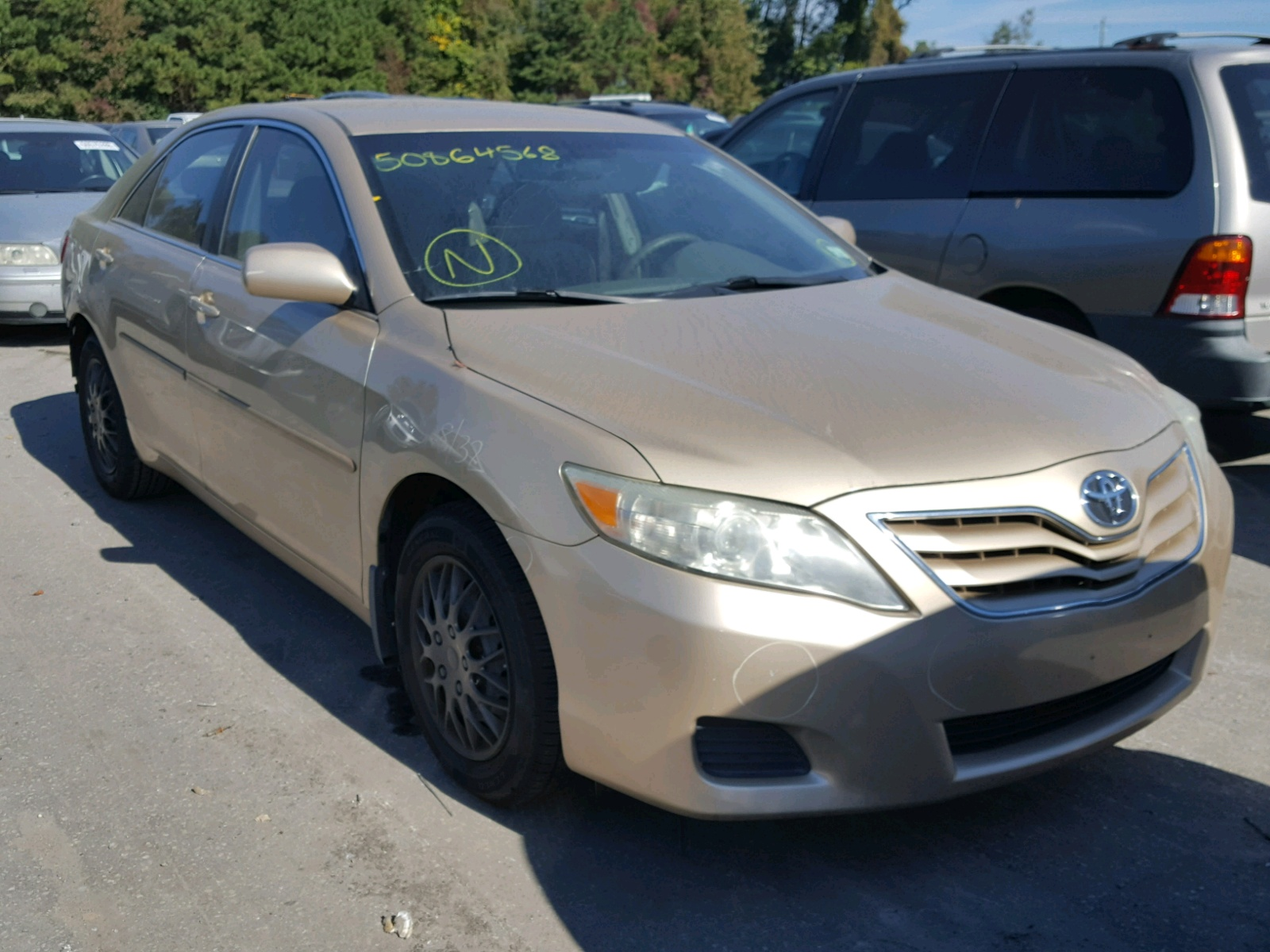 Salvage 2011 Toyota CAMRY BASE for sale
