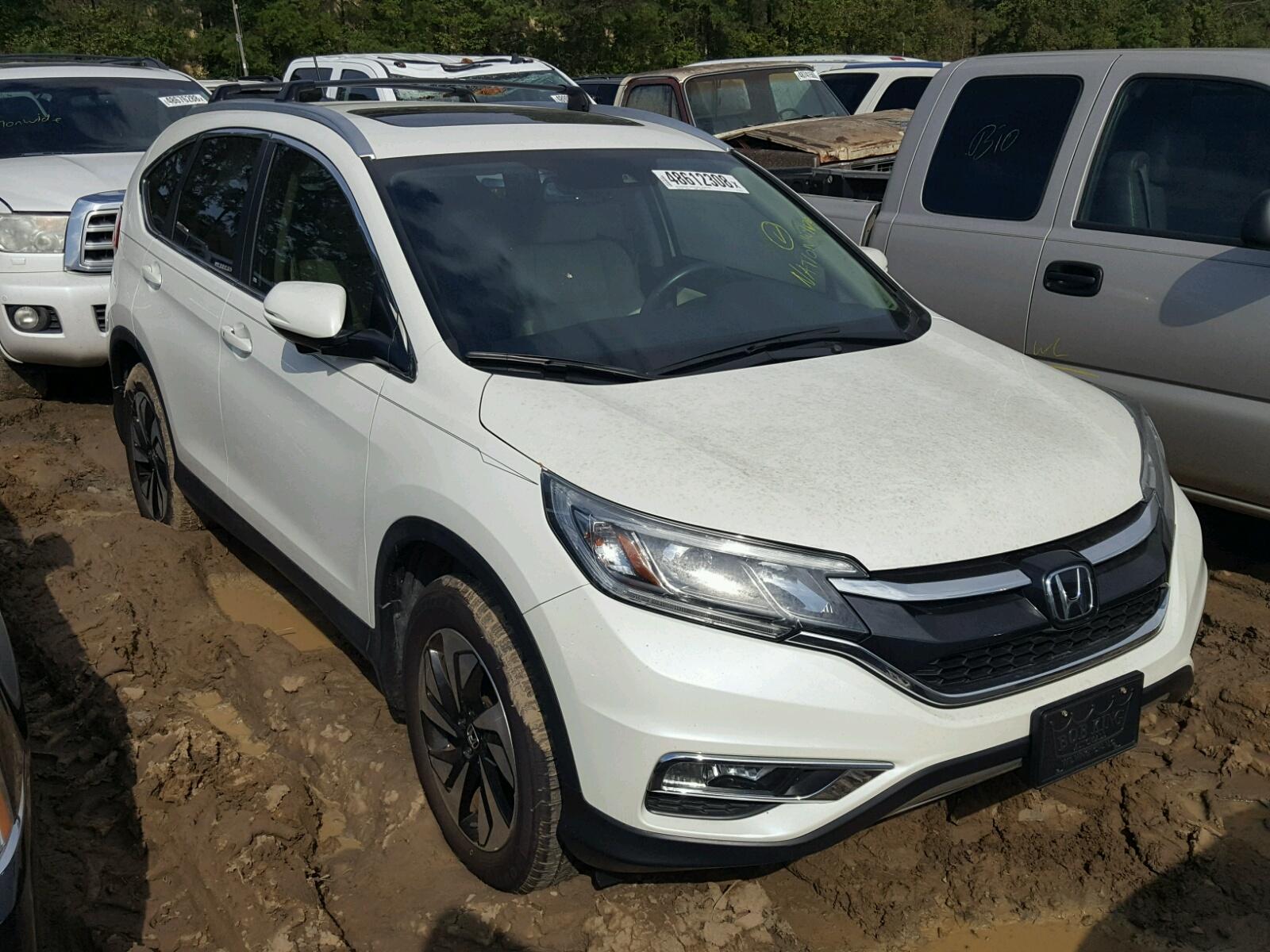 Salvage 2015 Honda CR-V TOURING for sale