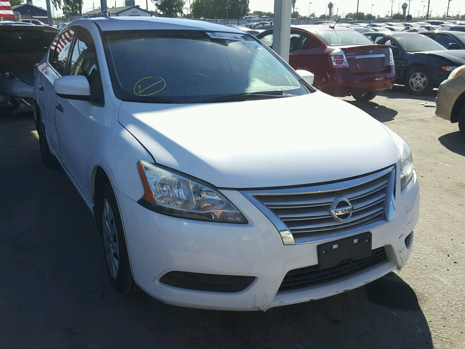 Salvage 2015 Nissan SENTRA S for sale
