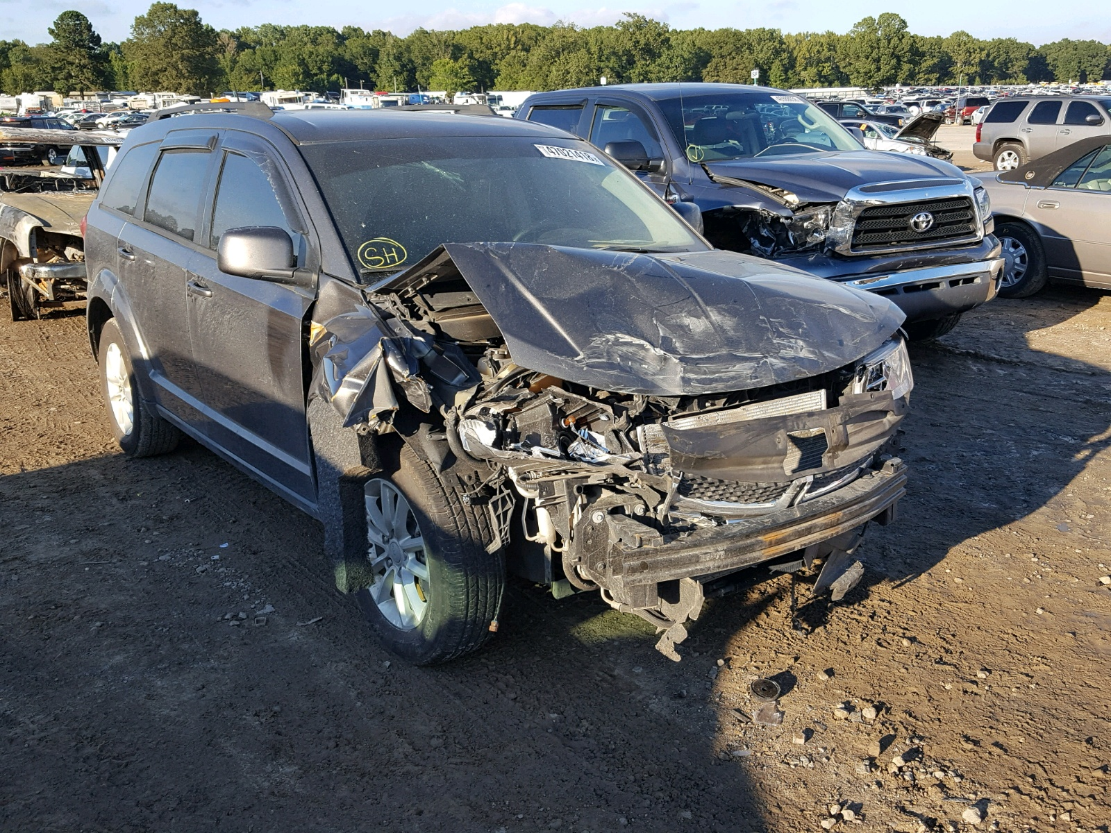 Salvage 2014 Dodge JOURNEY SX for sale