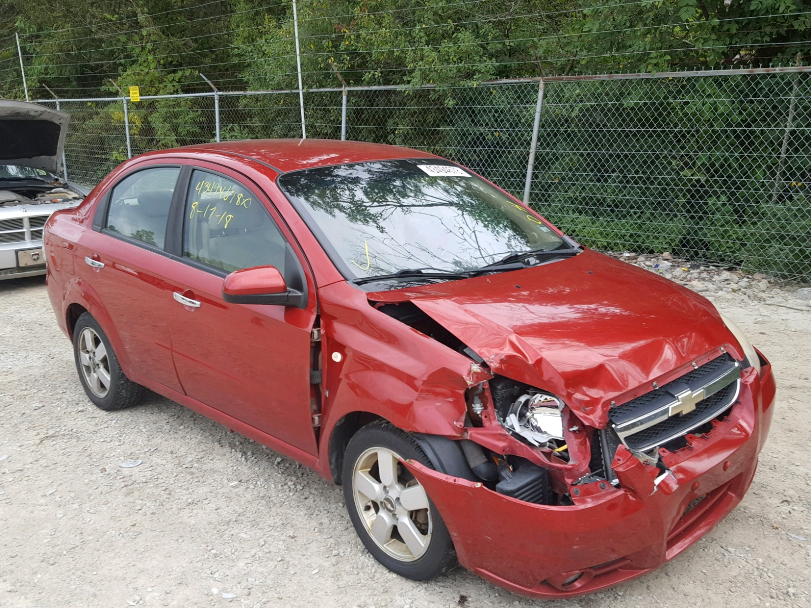 Salvage 2008 Chevrolet AVEO LT for sale