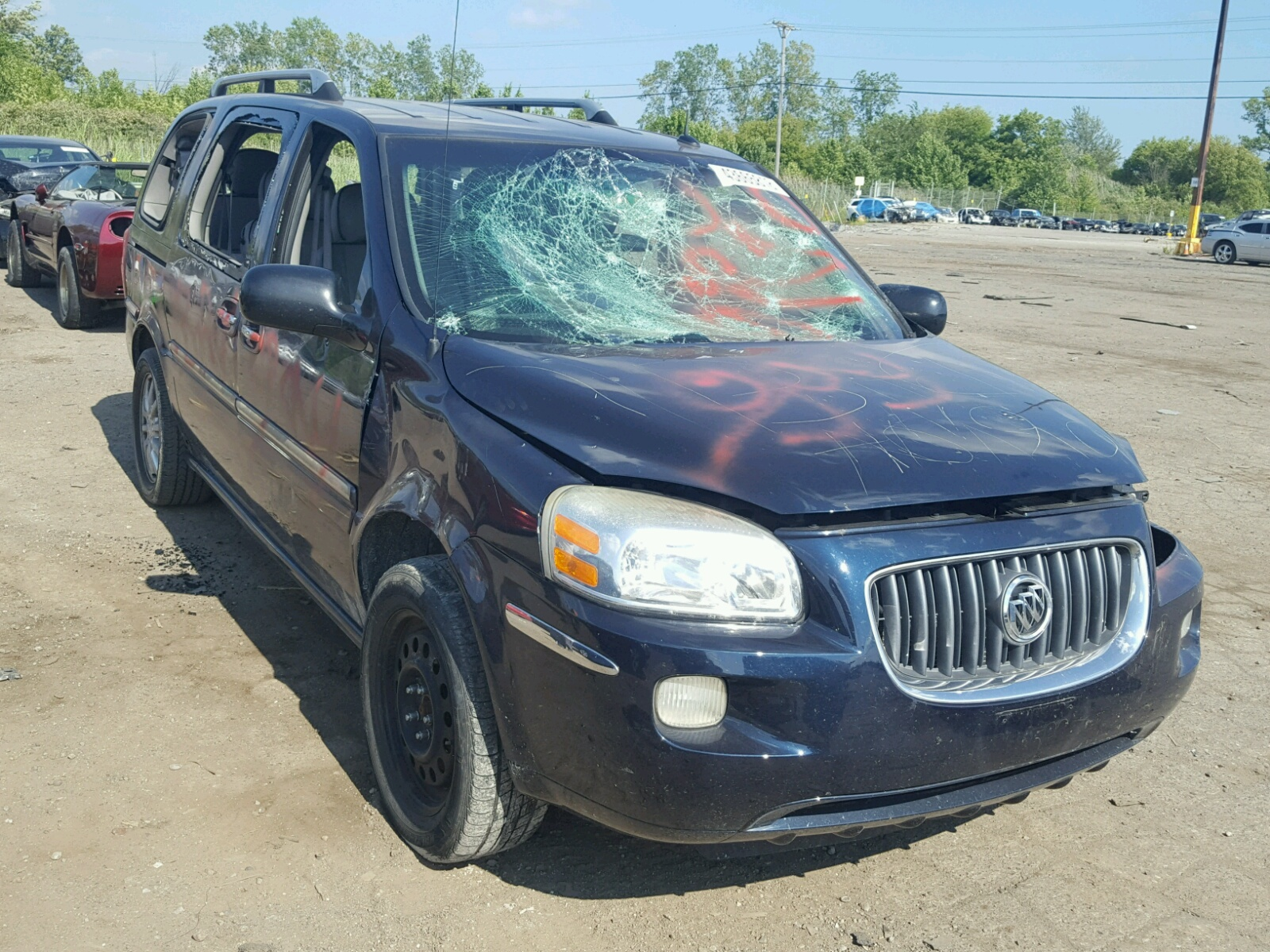 Salvage 2005 Buick TERRAZA CX for sale