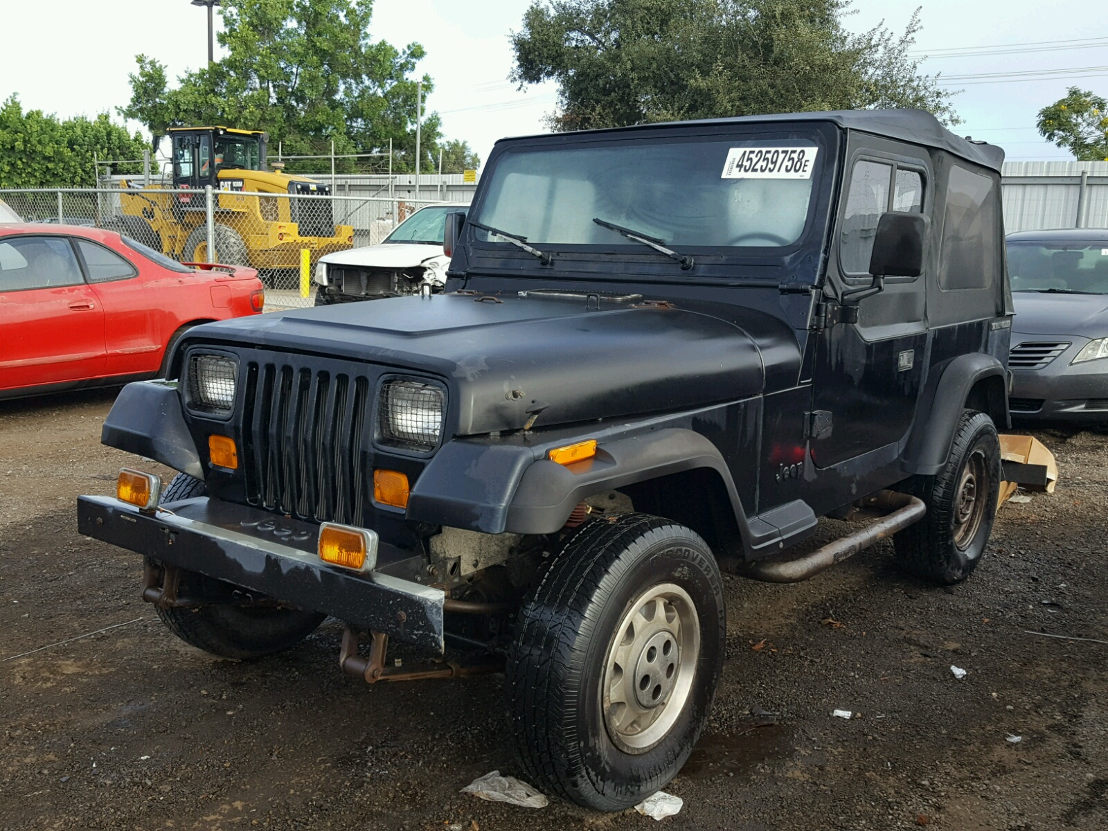 2bchv81s5jb545406 1988 Black Jeep Wrangler S On Sale In Ca San Hard Top 25l Right View