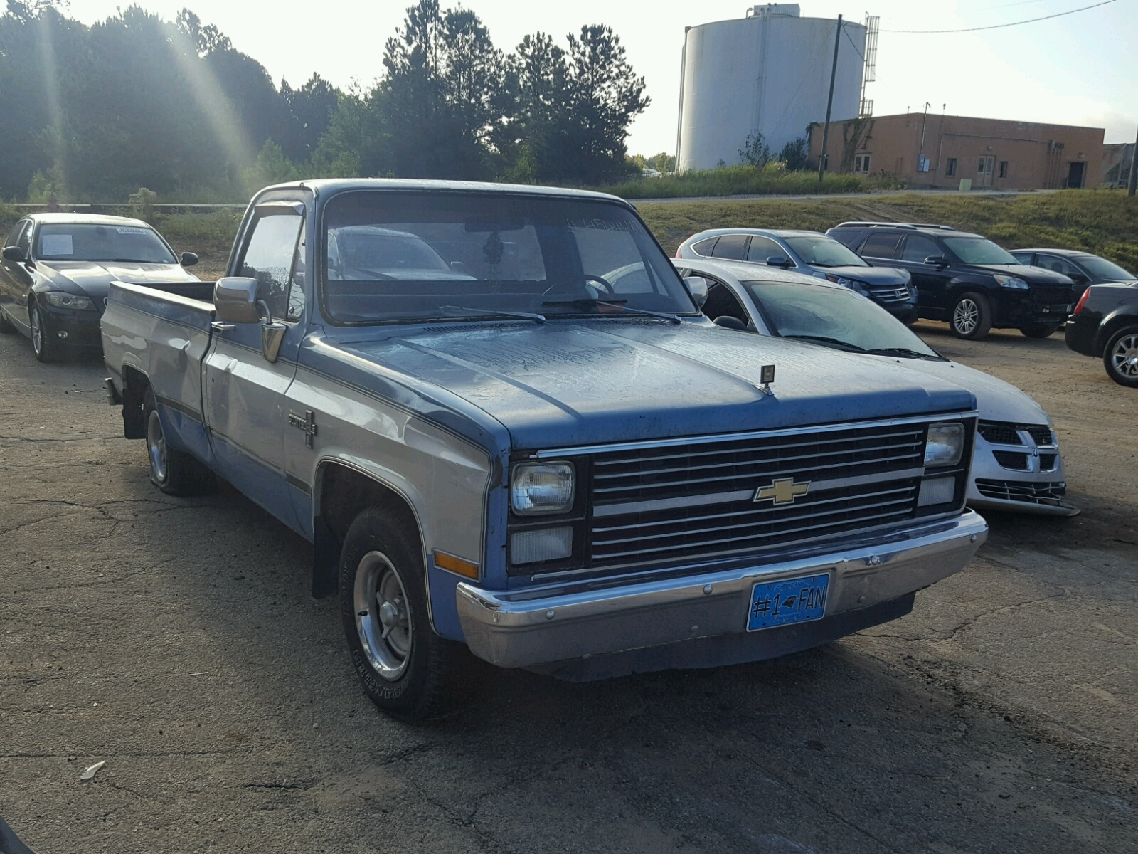 1gcdc14h0df335955 1983 Blue Chevrolet C10 On Sale In Sc Columbia Chevy Pickup Truck 50l Left View