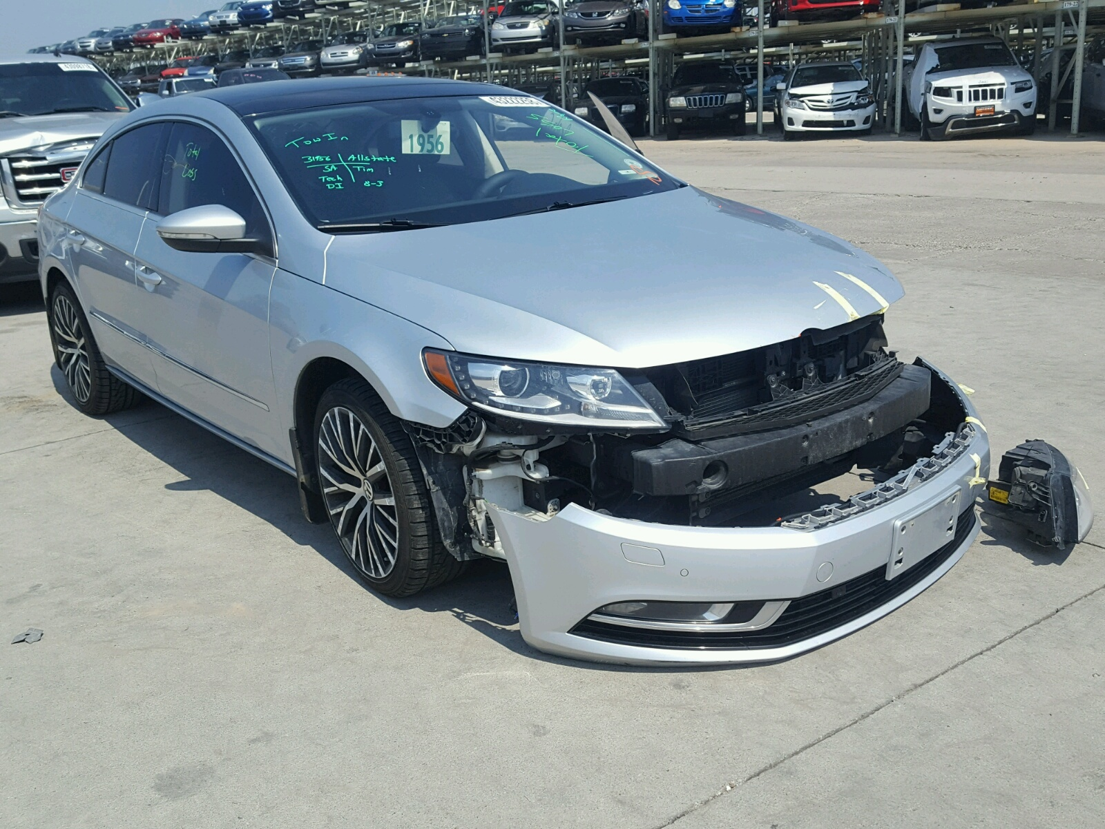 Salvage 2014 Volkswagen CC VR6 4MO for sale