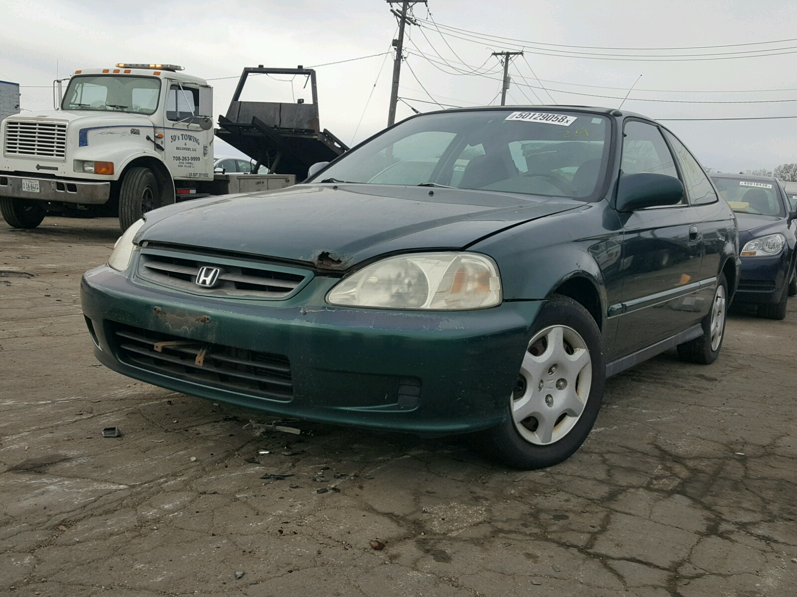 1hgej8247xl006387 1999 Green Honda Civic Ex On Sale In Il 16l Right View