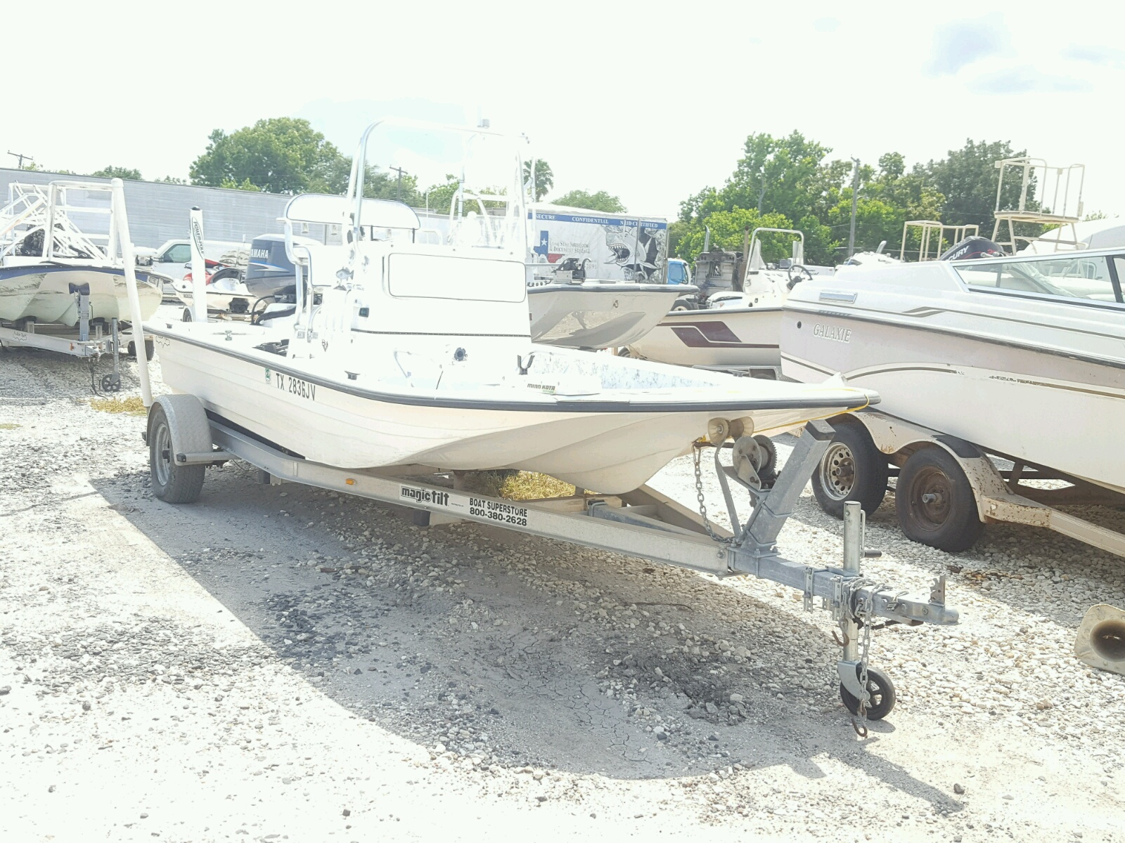 Salvage 2002 Shal MARINE TRAILER for sale