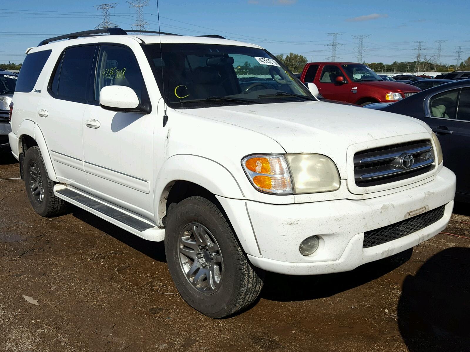 2004 Toyota Sequoia Li For Sale At Copart Elgin Il Lot 47853018 Loaded