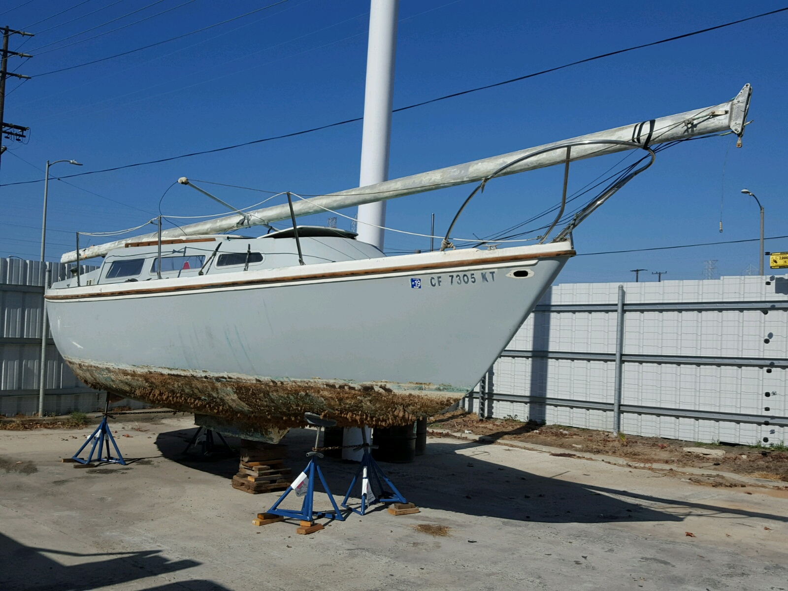 Salvage 1971 Catalina BOAT for sale