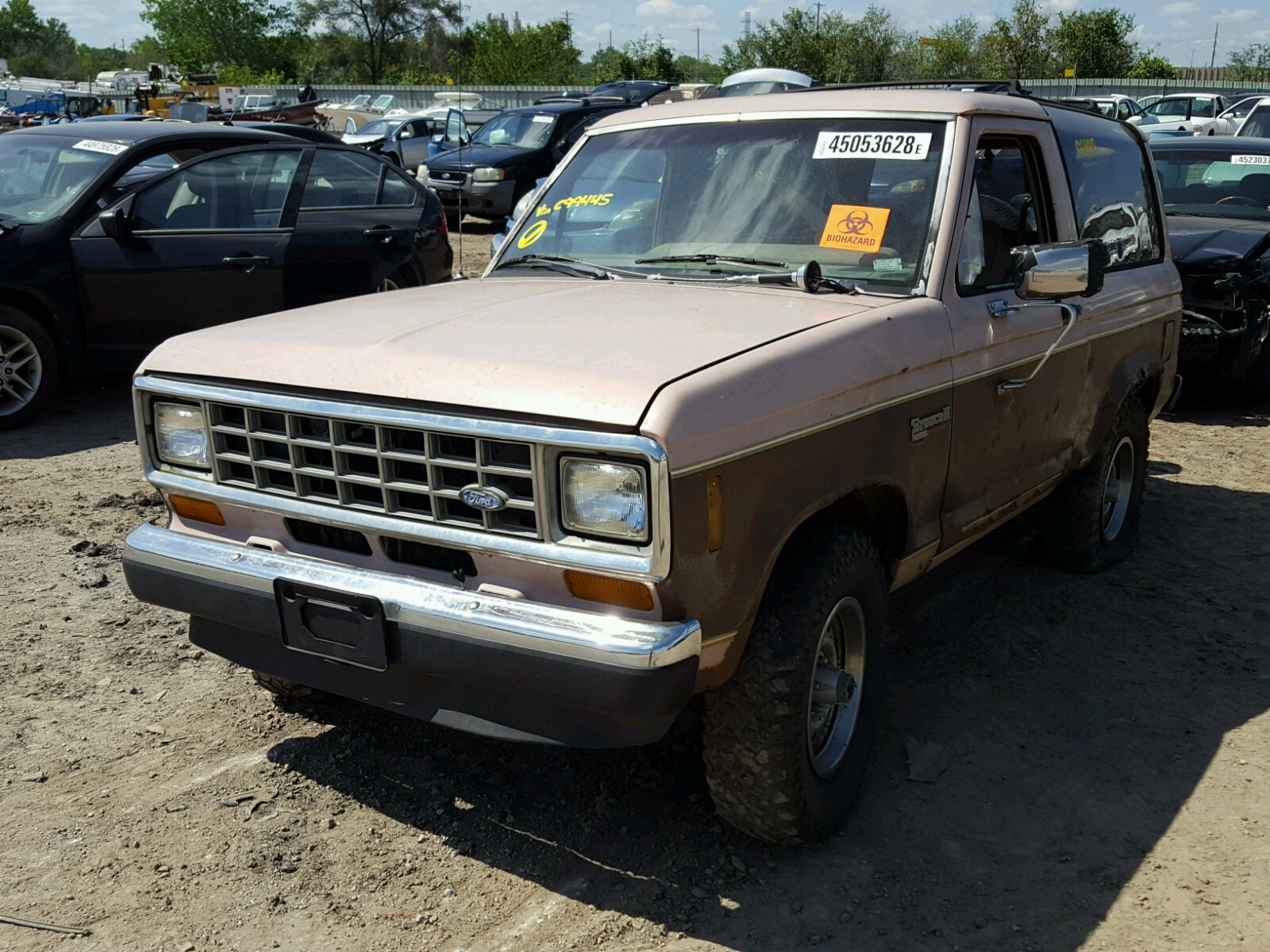 1fmcu14t1huc99445 1987 Brown Ford Bronco Ii On Sale In Ks Kansas 29l Right View