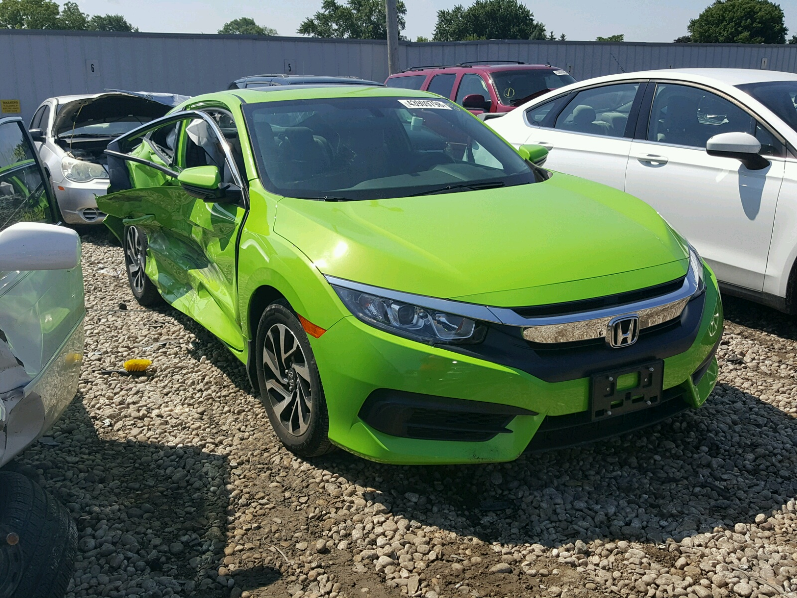 Salvage 2016 Honda CIVIC LX for sale