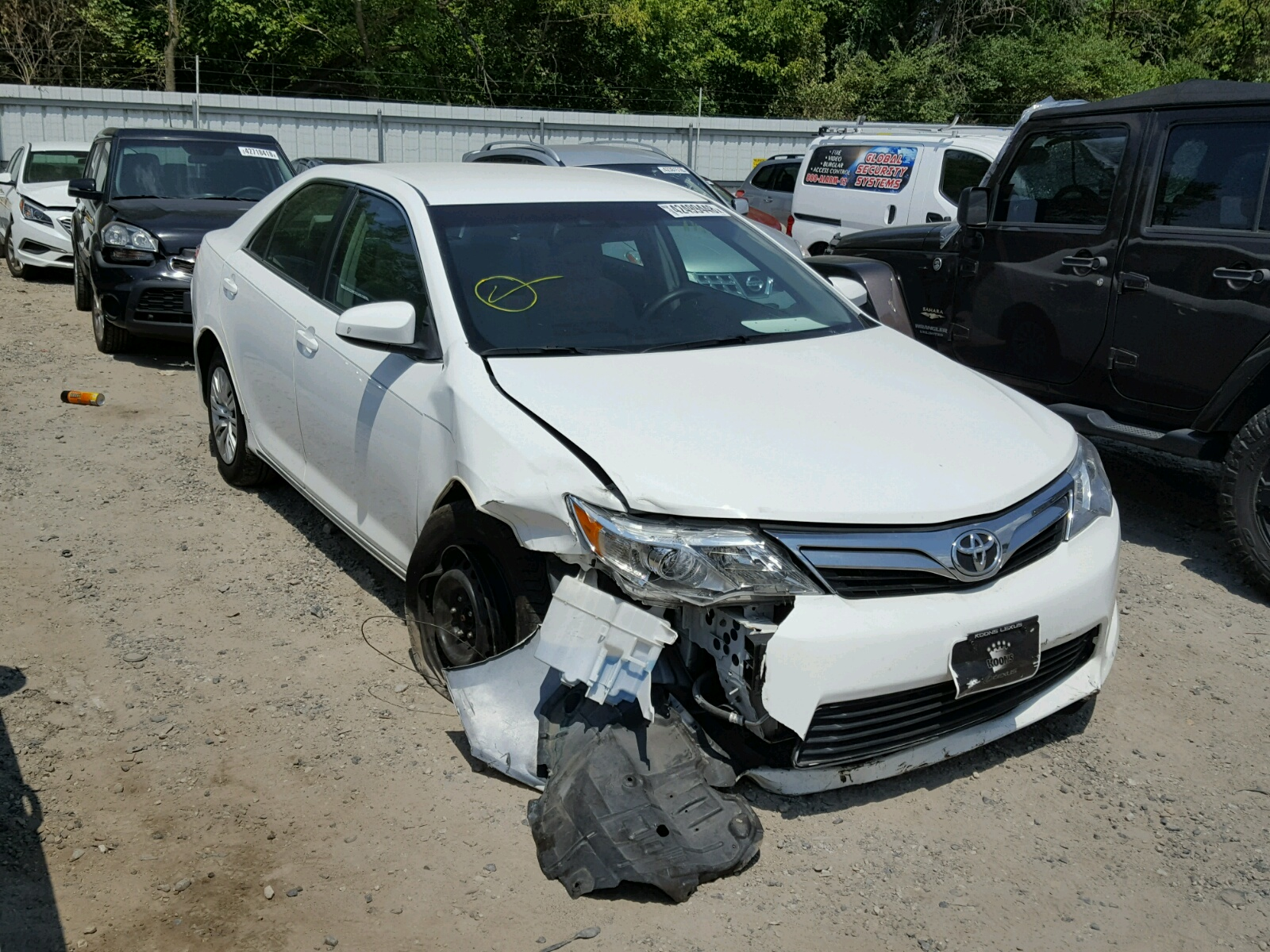 Salvage 2013 Toyota CAMRY L for sale