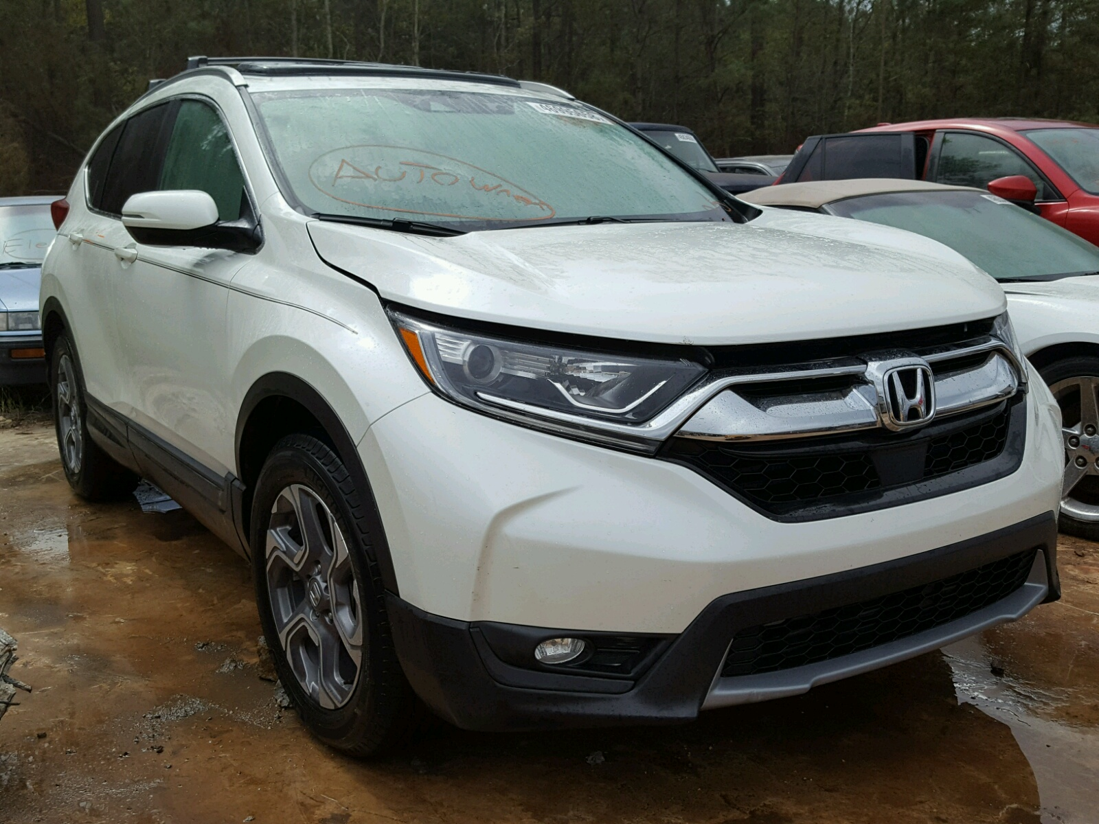 Salvage 2017 Honda CR-V EXL for sale