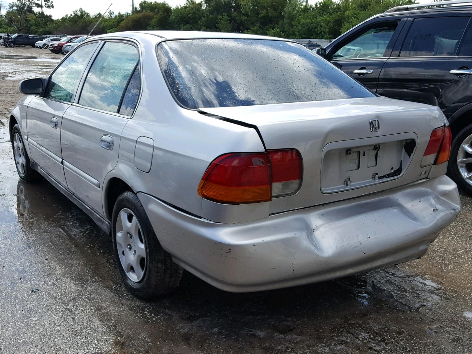 2hgej6573th521100 1996 Silver Honda Civic Lx On Sale In Fl Tampa 16l Angle View