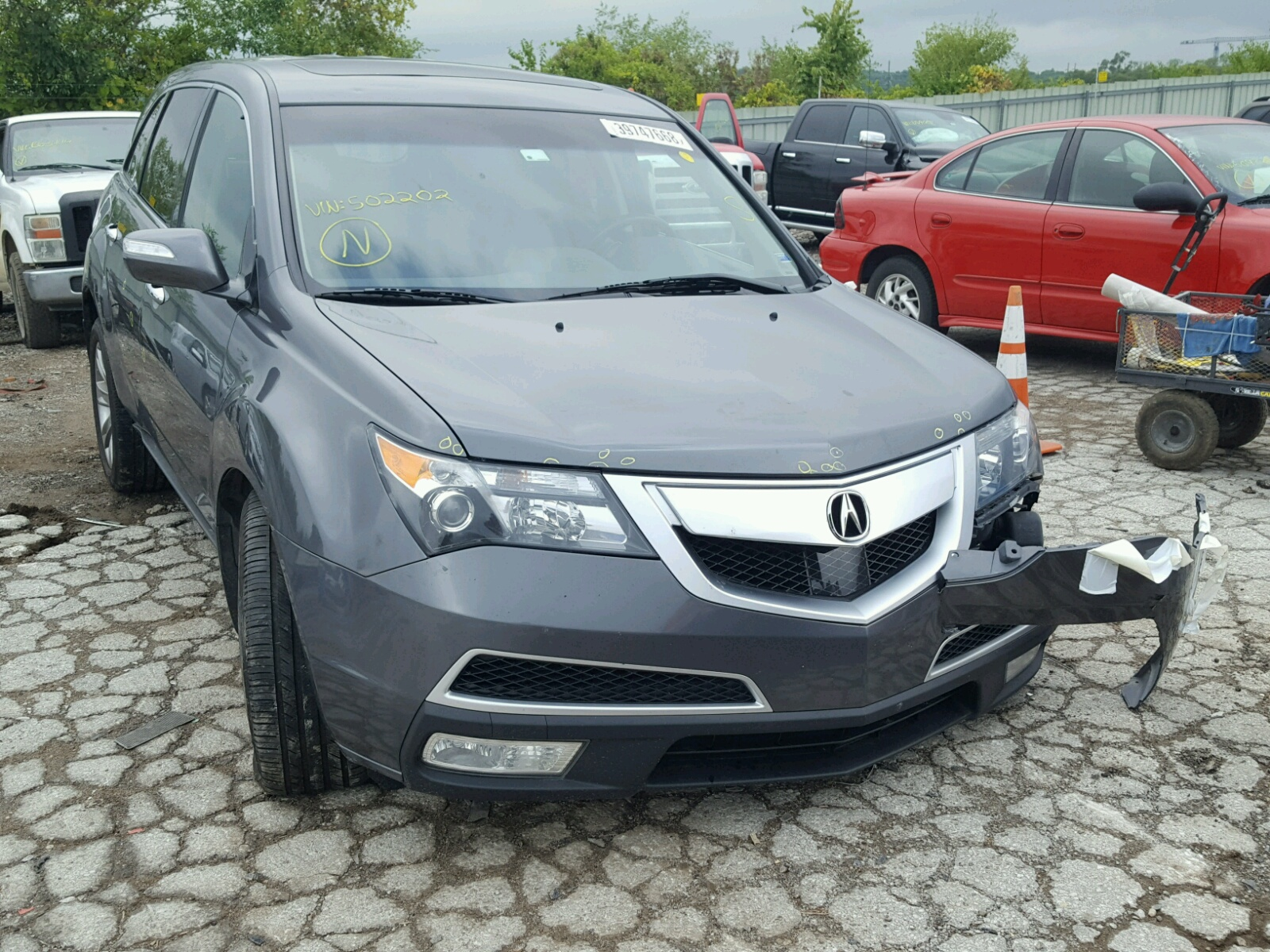 2012 Acura MDX Advance for sale at Copart Kansas City KS Lot