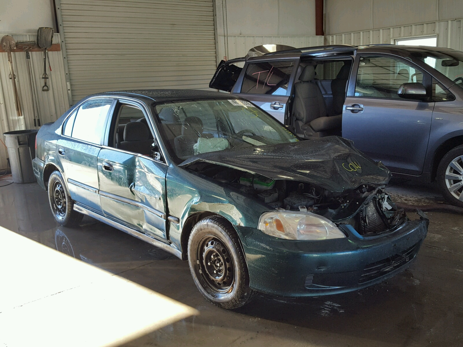 Salvage 1999 Honda CIVIC LX for sale