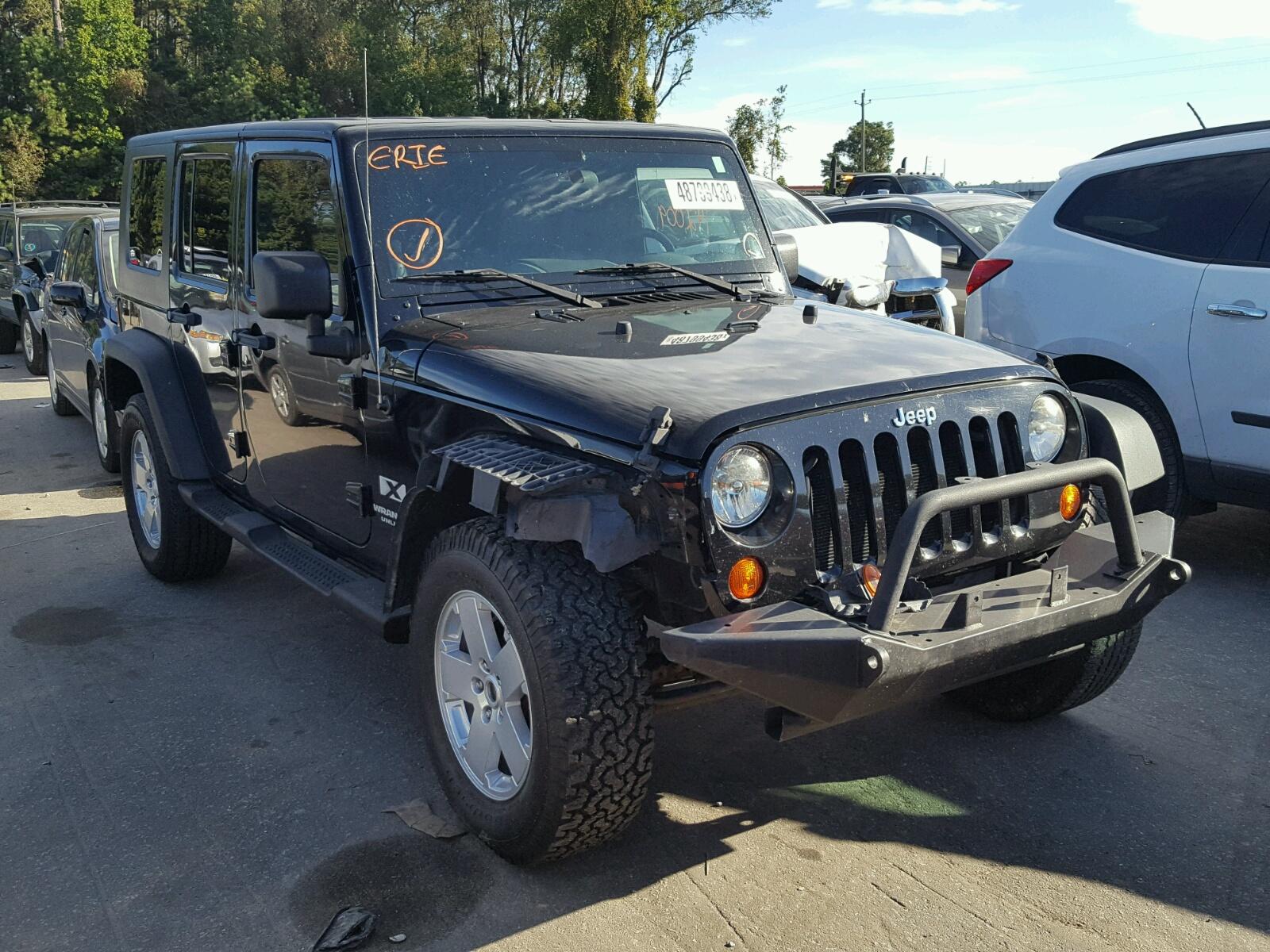 Salvage 2007 Jeep WRANGLER X for sale
