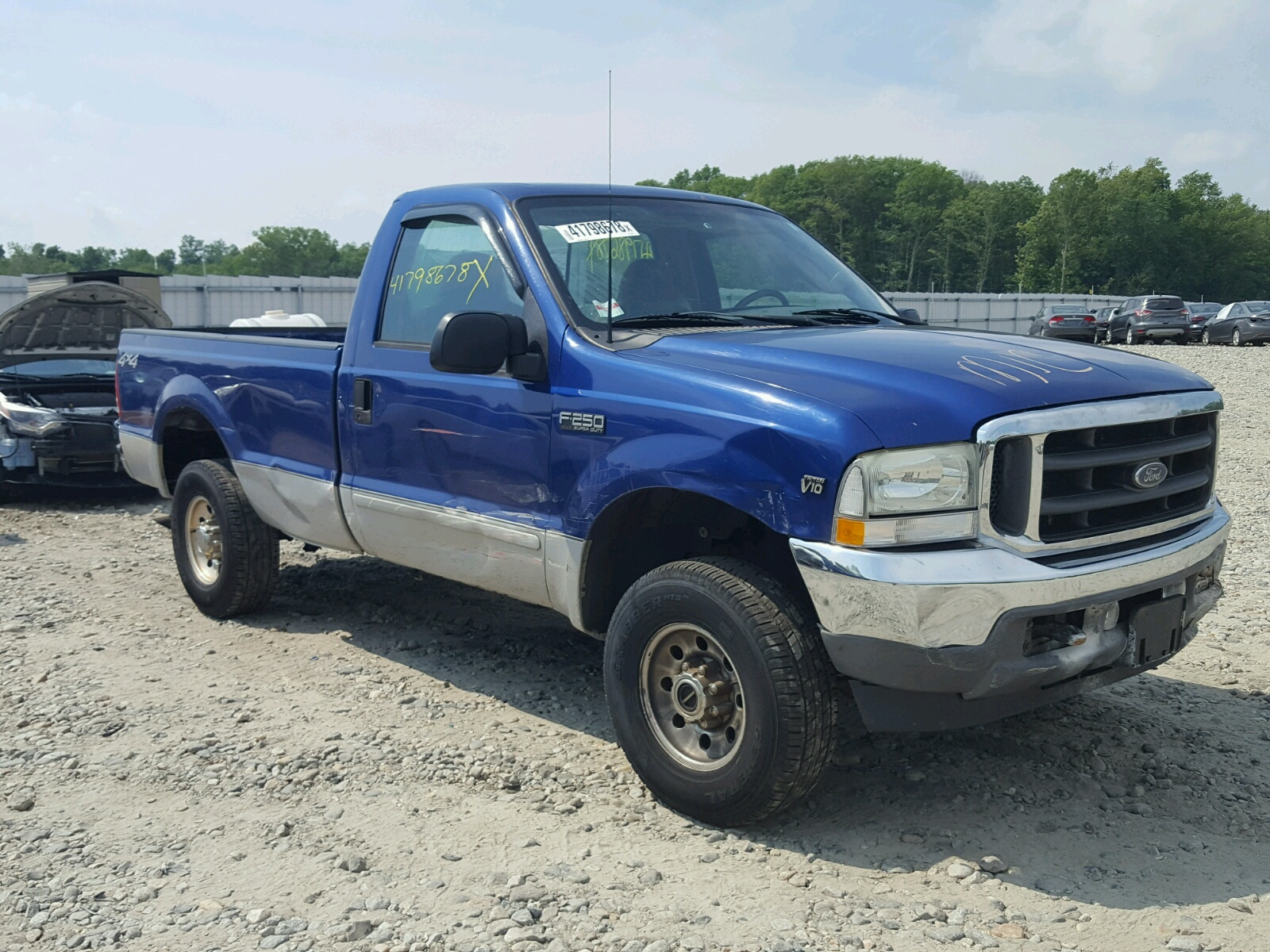 1ftnf21s93ed39198 2003 Blue Ford F250 Super On Sale In Ma West 1949 F 250 4x4 68l Left View