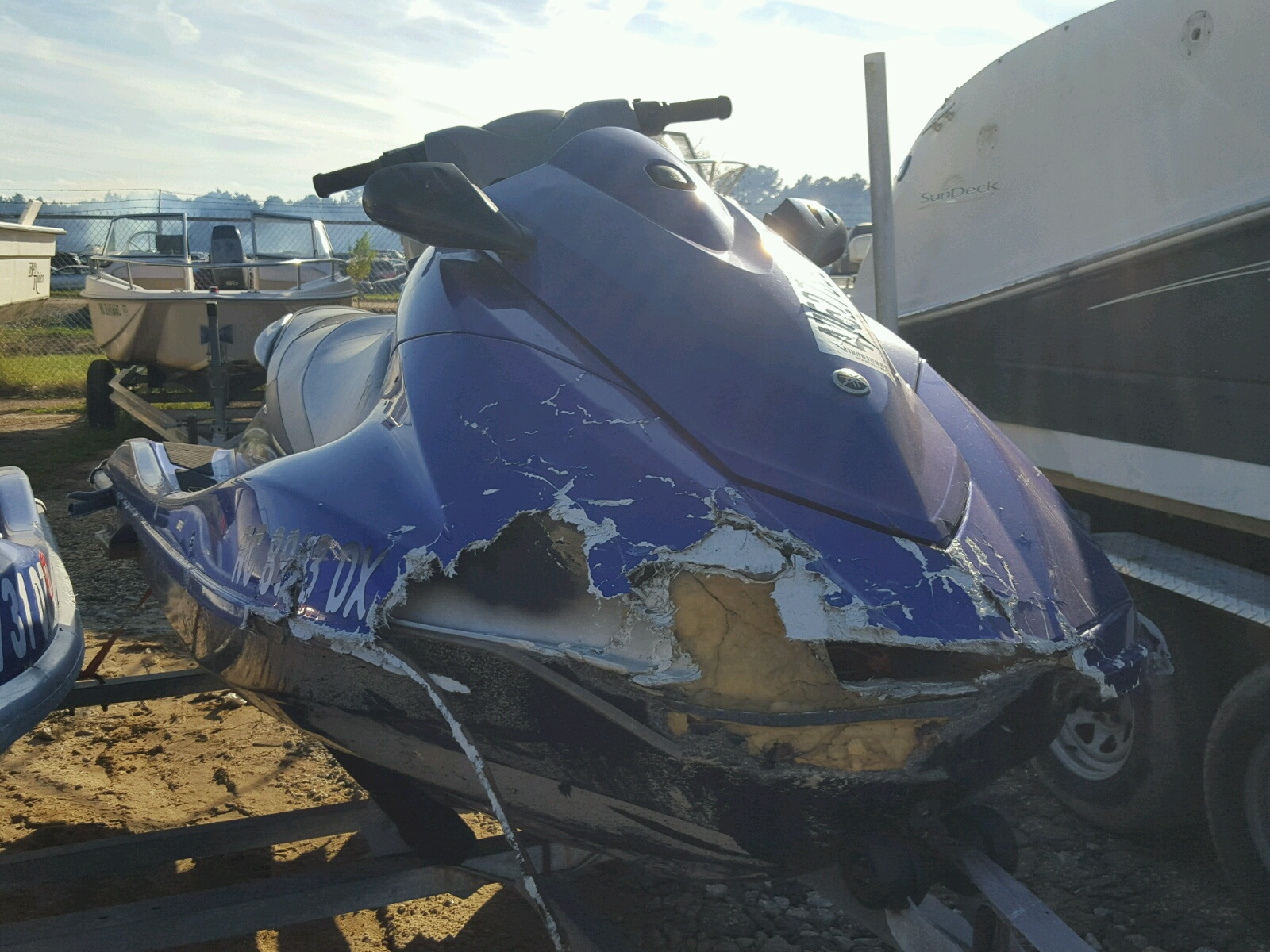 Salvage 2012 Yamaha VX DELUXE for sale