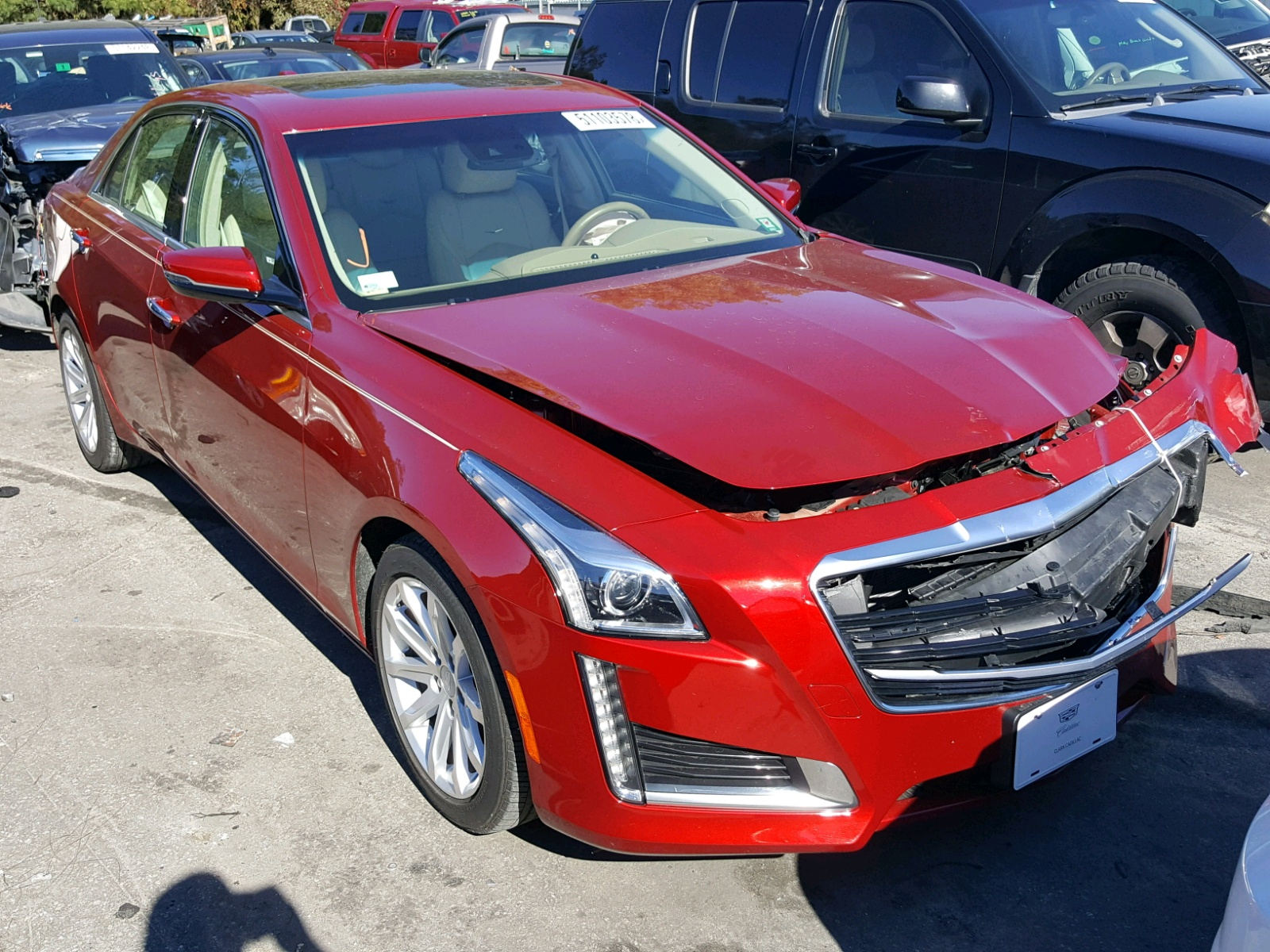 Salvage 2015 Cadillac CTS LUXURY for sale