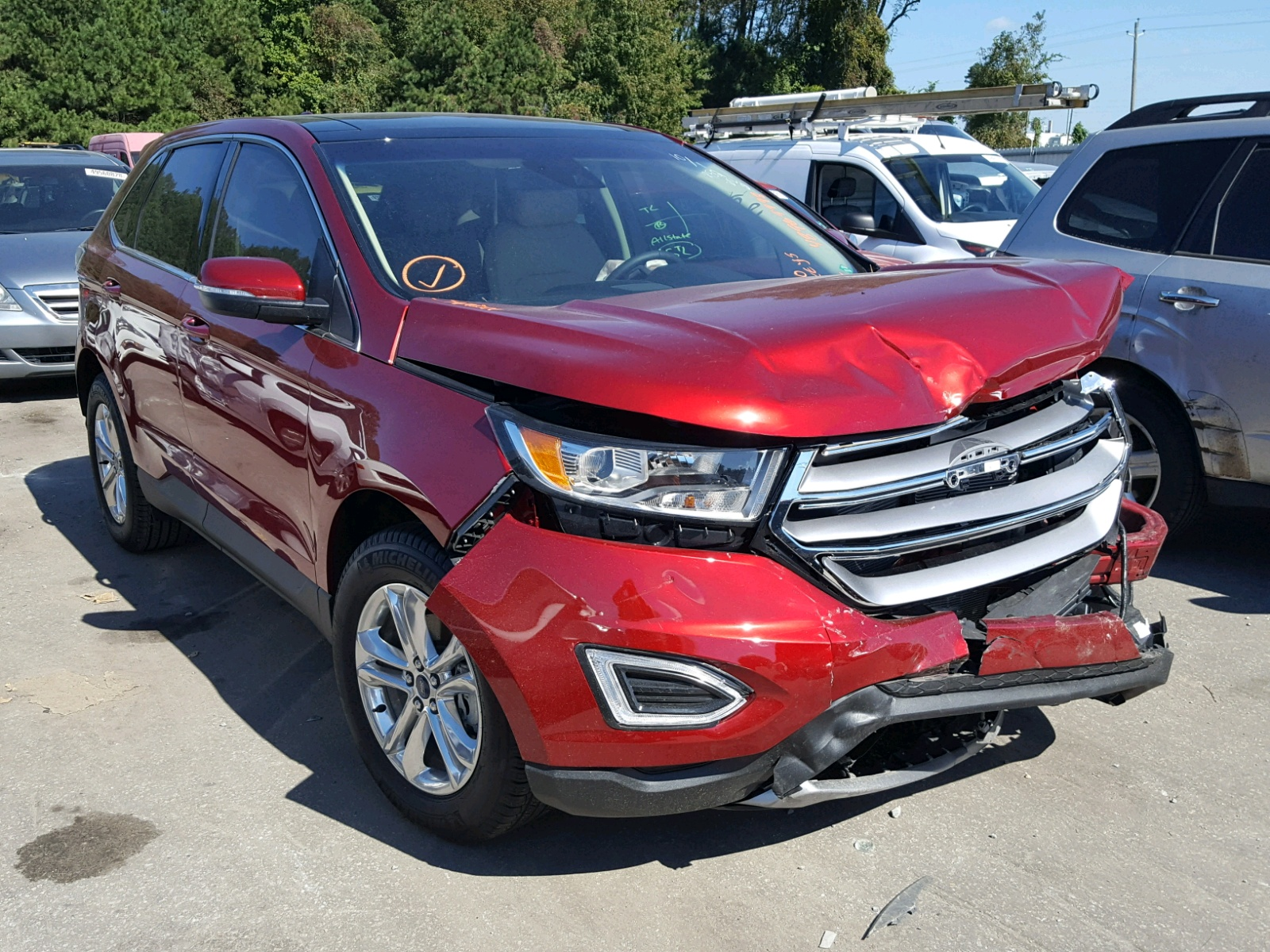 Salvage 2018 Ford EDGE SEL for sale
