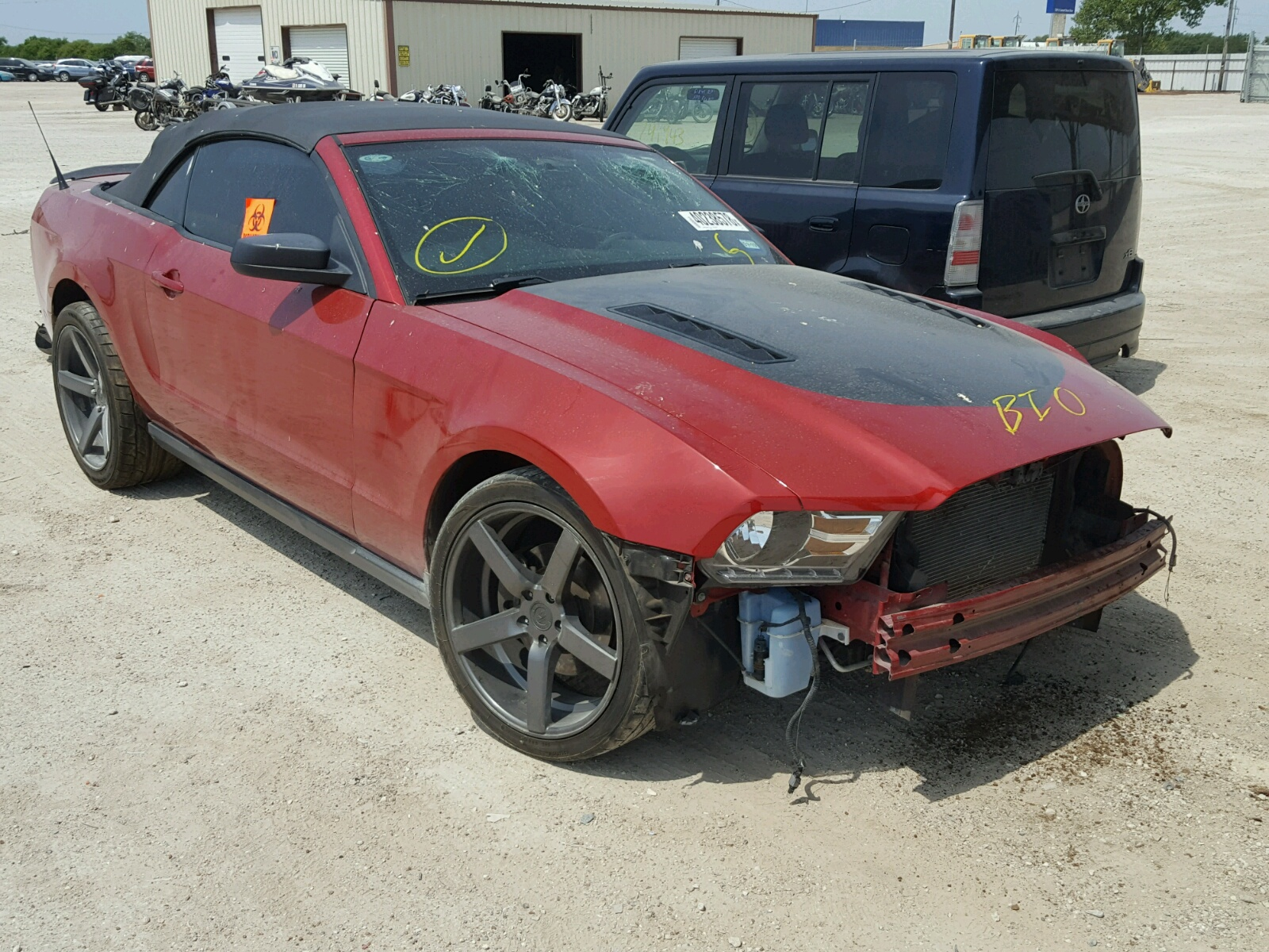 1ZVBP8EM6C 2012 RED FORD MUSTANG on Sale in TX WACO