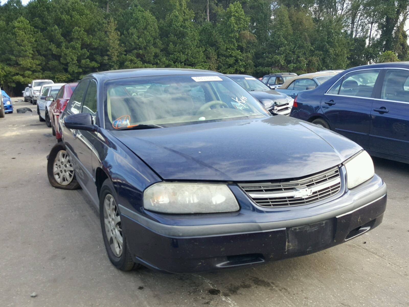 Salvage 2000 Chevrolet IMPALA for sale