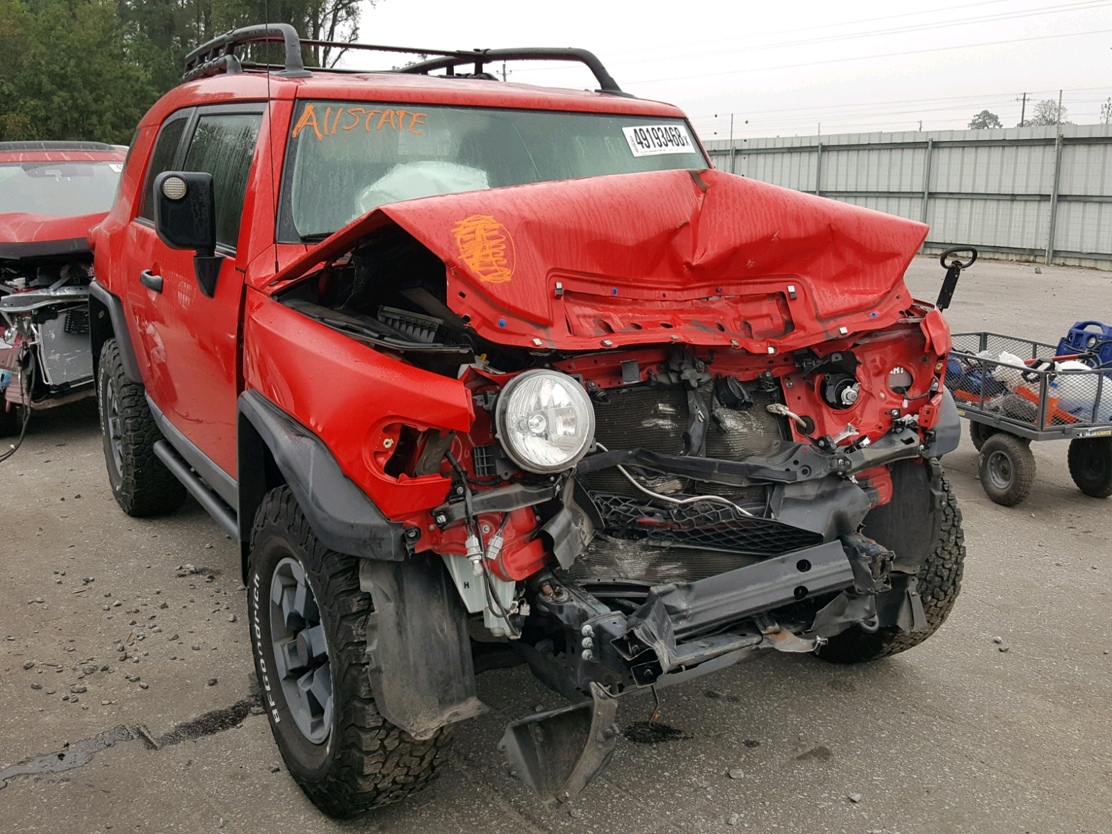 Salvage 2012 Toyota FJ CRUISER for sale