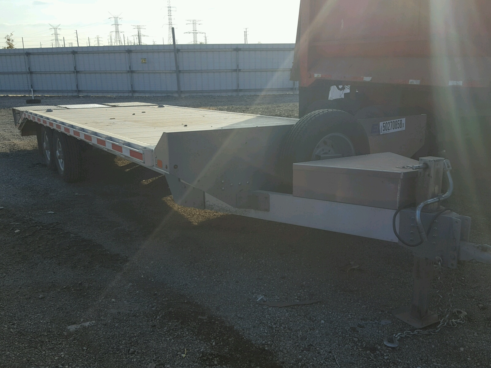 Salvage 2018 EBY STOCK TRAILER for sale
