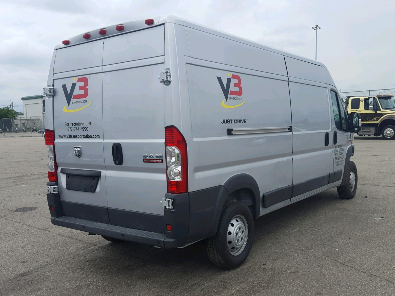 2014 Dodge Ram Promaster For Sale At Copart Moraine Oh Lot 45396718 Van