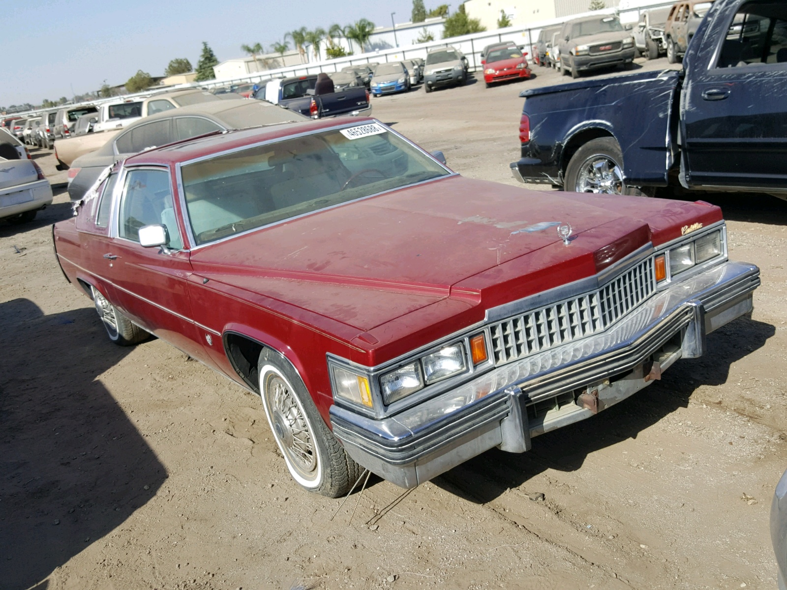 6d47s8q294769 1978 Red Cadillac Deville On Sale In Ca Sedan 4 Door Left View