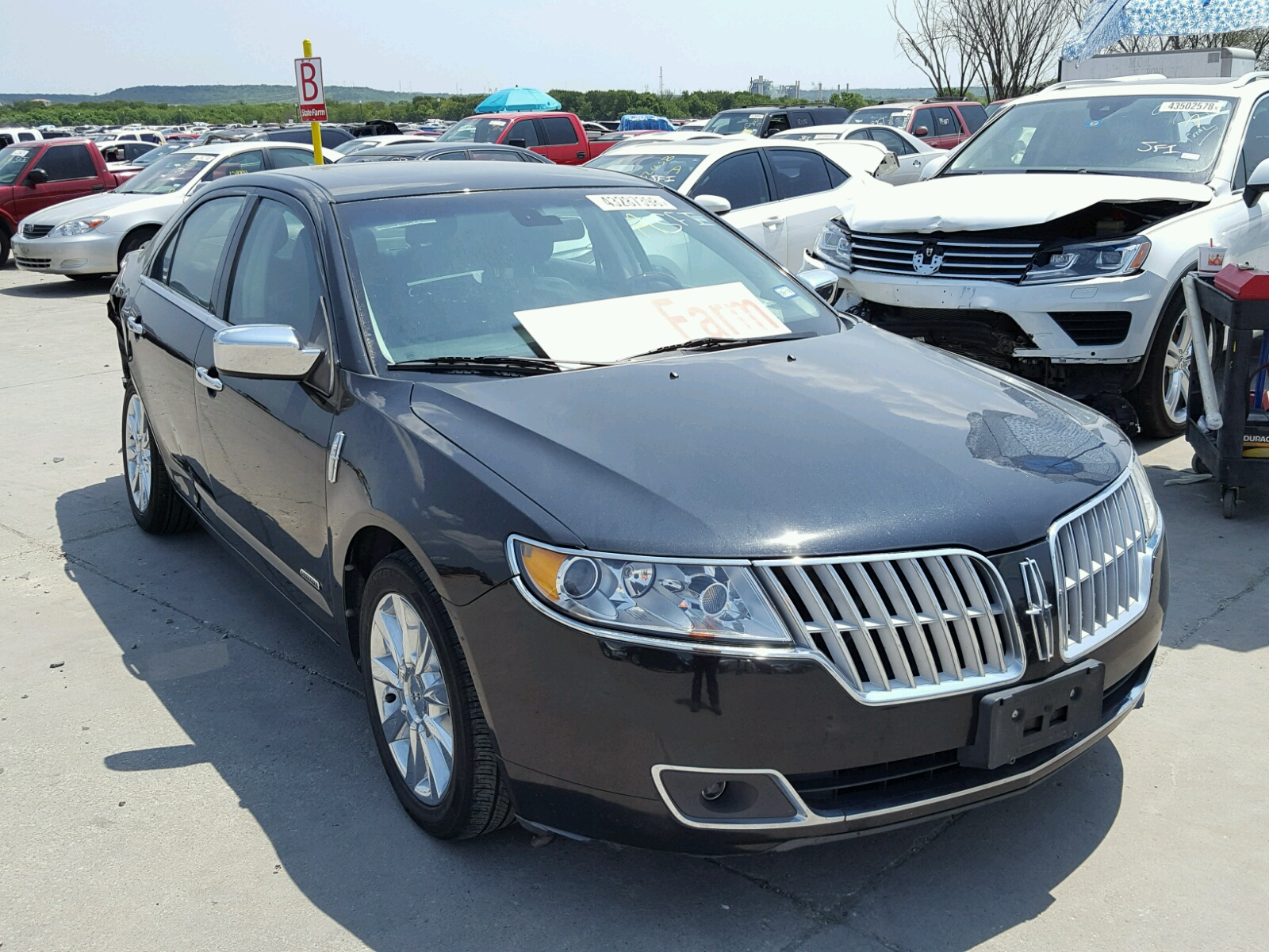 2011 Lincoln MKZ Hybrid for sale at Copart Grand Prairie, TX Lot ...